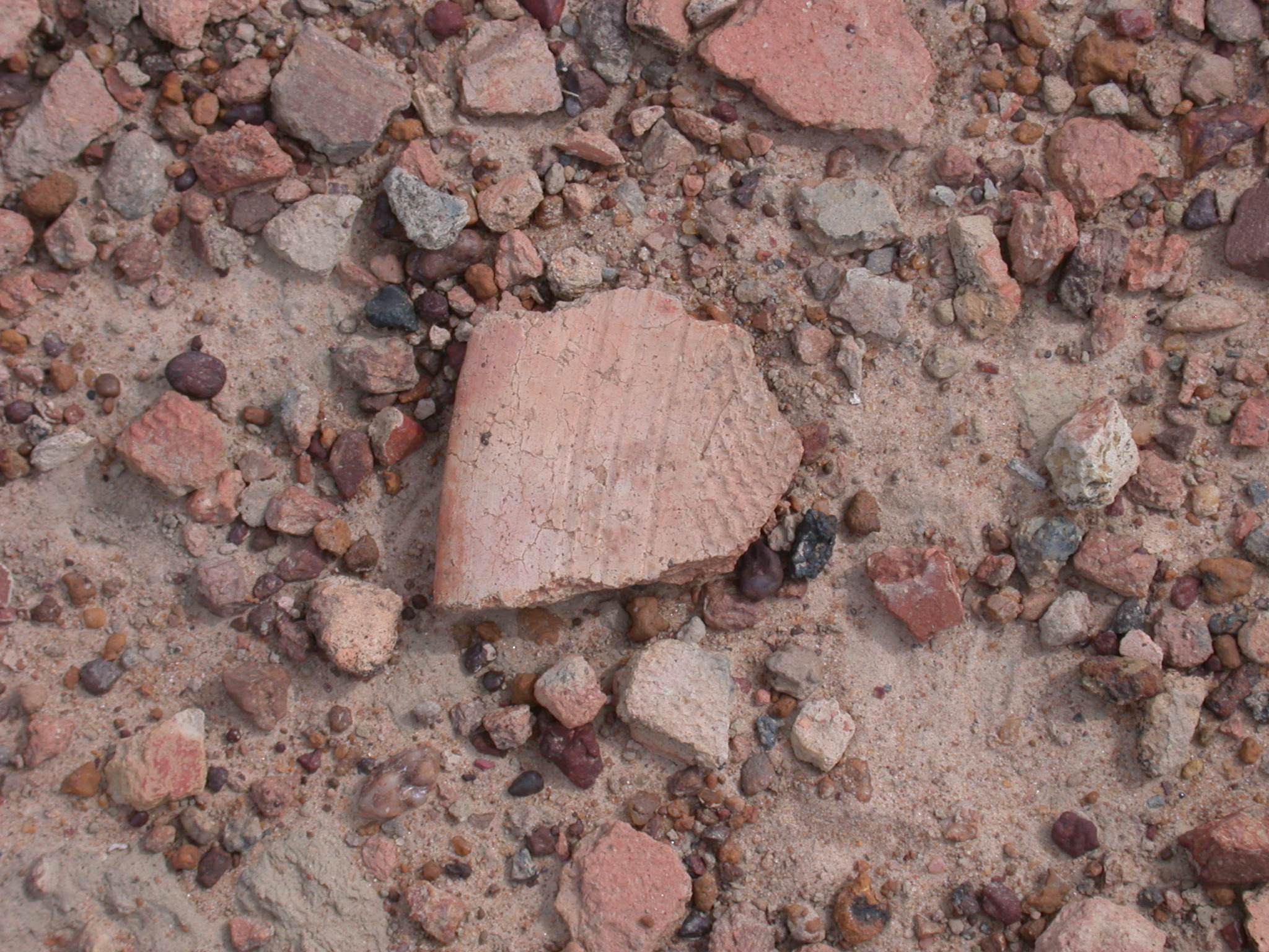 Pottery Fragments in Ruins of Ancient City of Jenne-Jeno, Mali