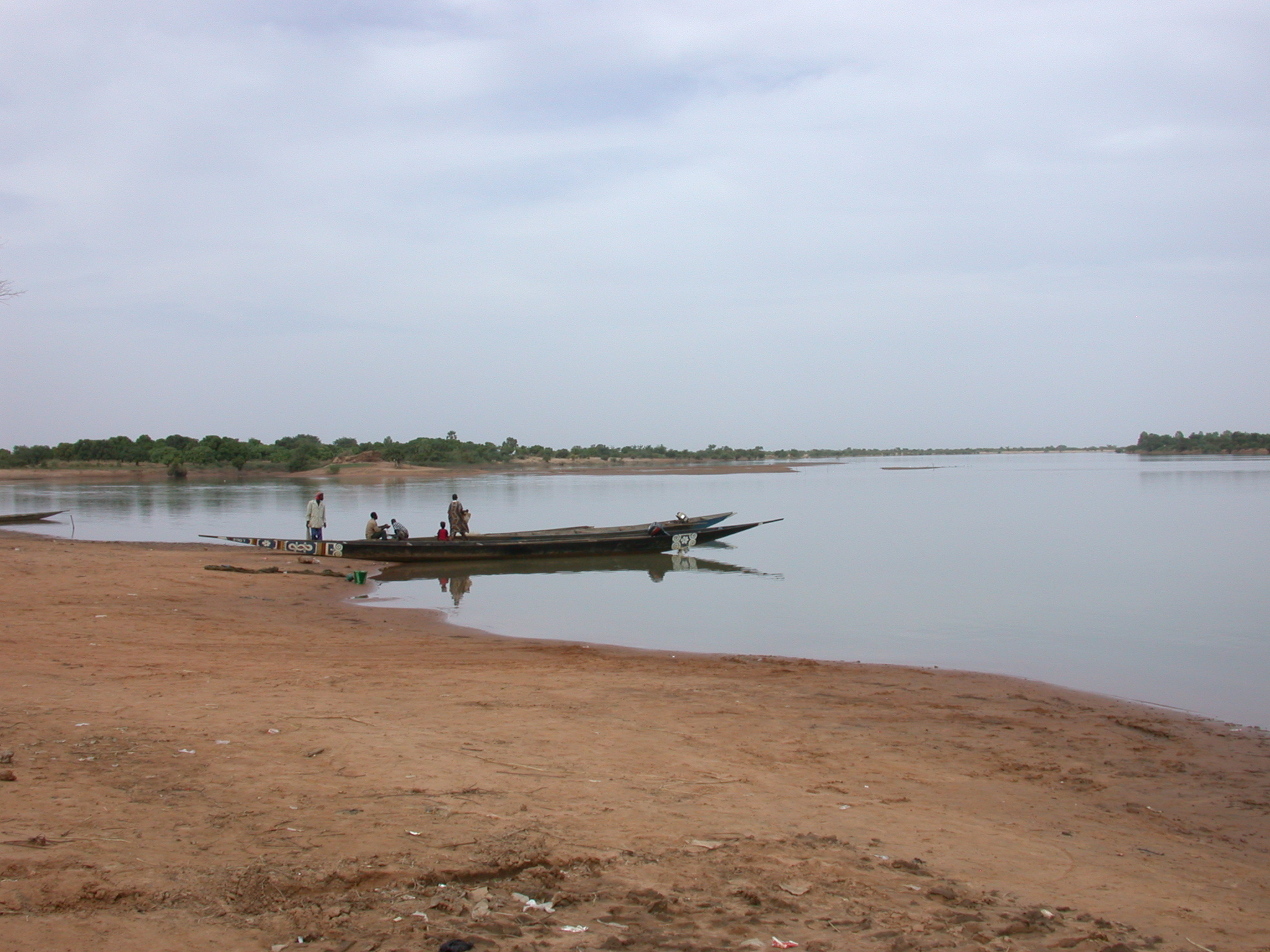 Pinasses at Niger River Crossing From Jenne to Bandiagara, Mali