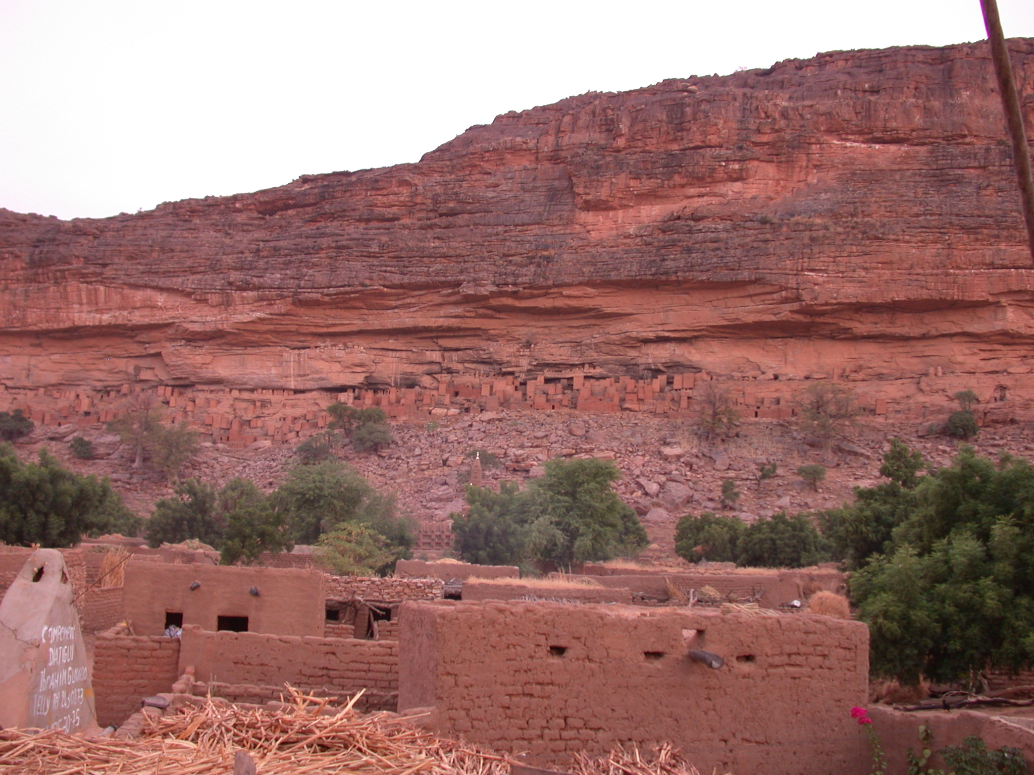 View of Falaise or Escarpment From Telli Village, Dogon Country, Mali