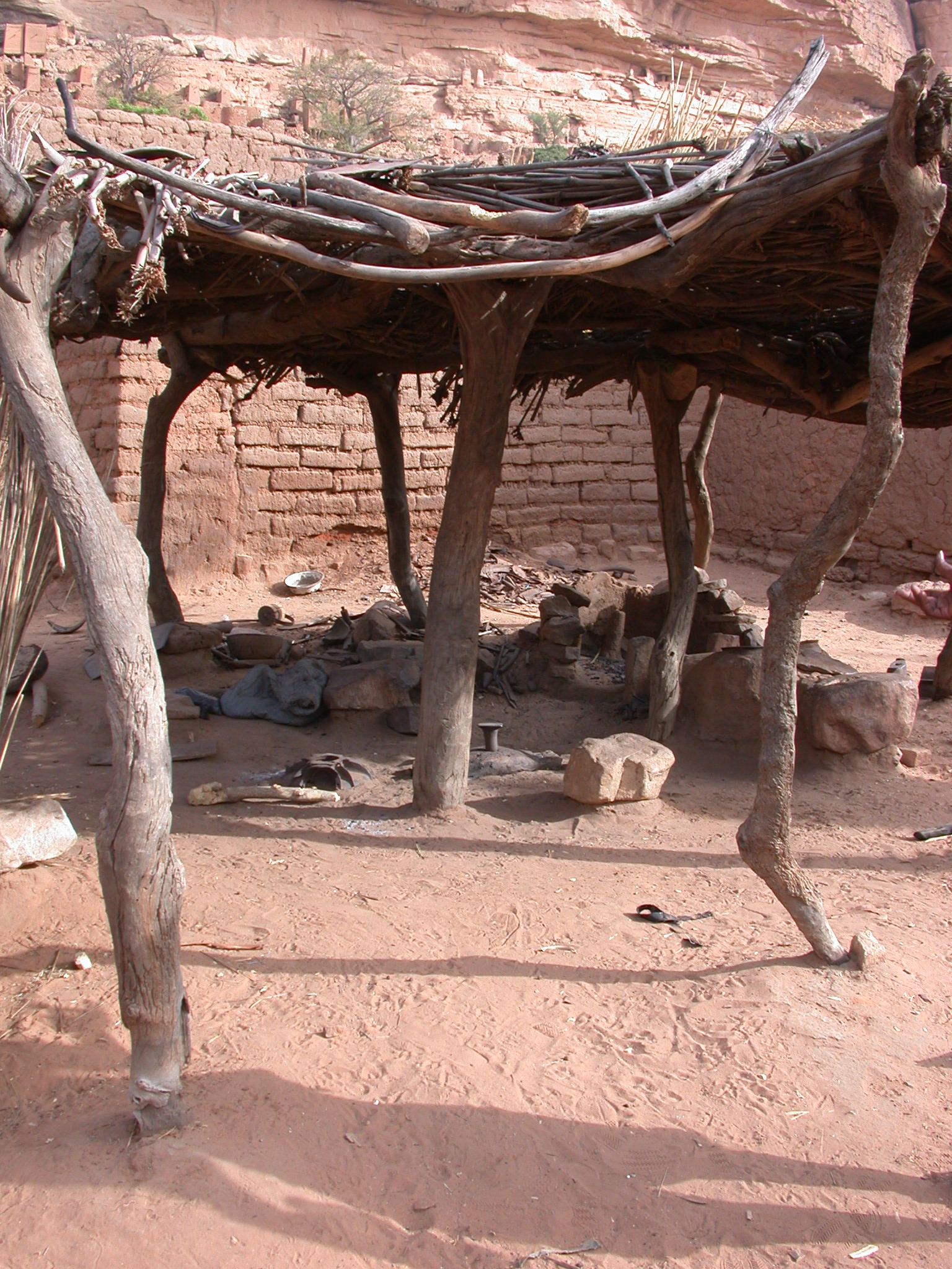 Blacksmith Forge, Tellem Village, Dogon Country, Mali