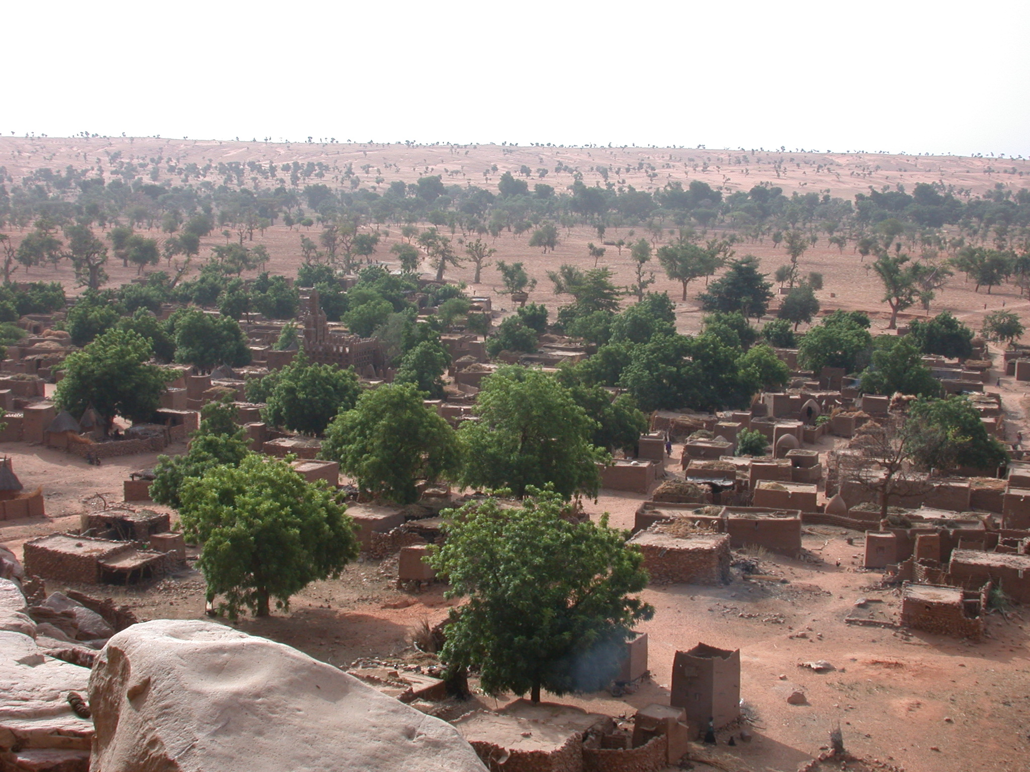 View Down From Escarpment, Tellem Village, Dogon Country, Mali