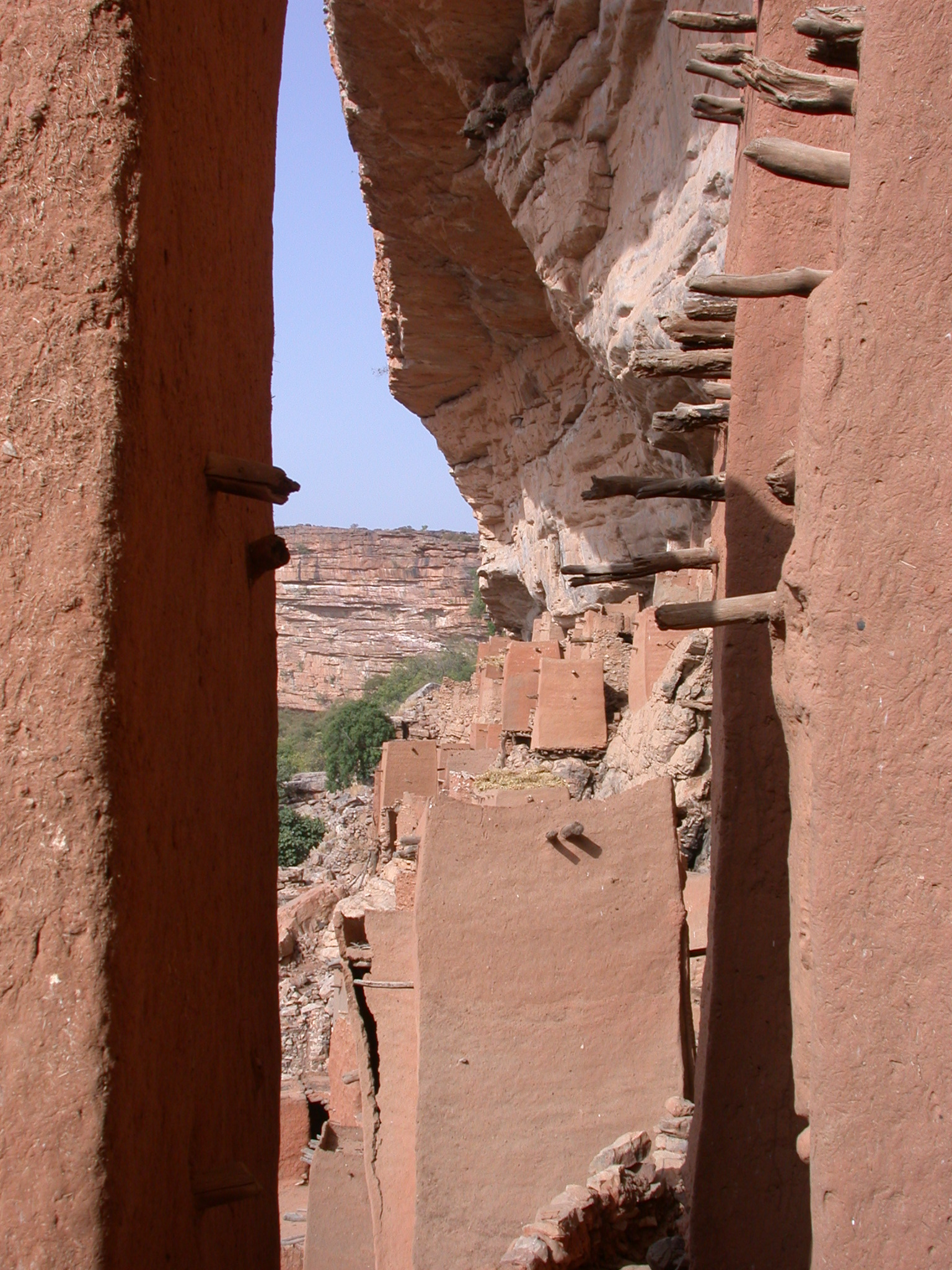 View Across Falaise Escarpment, Tellem Village, Dogon Country, Mali