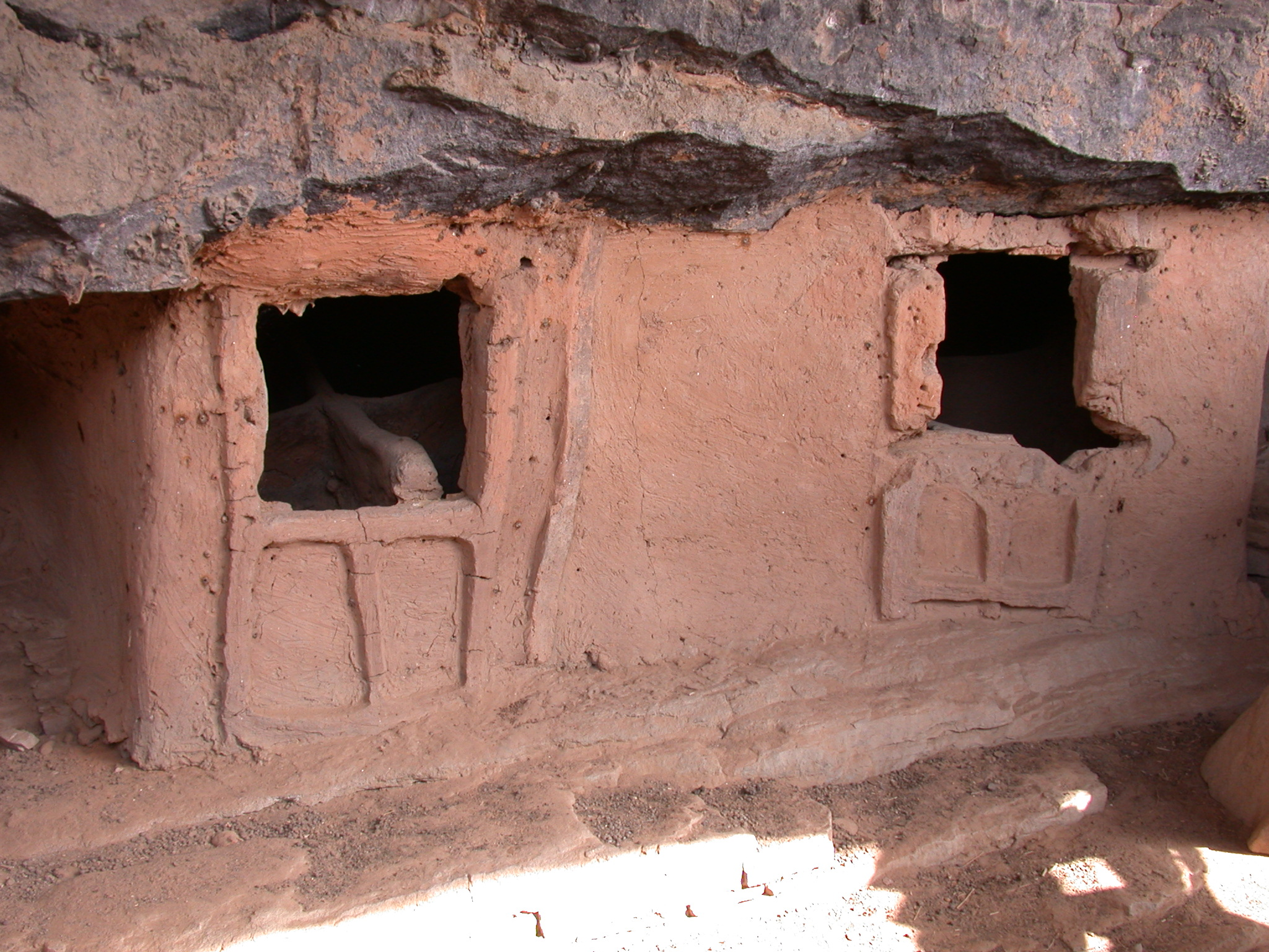 Closeup of Miniature Tellem Dwellings, Tellem Village, Dogon Country, Mali