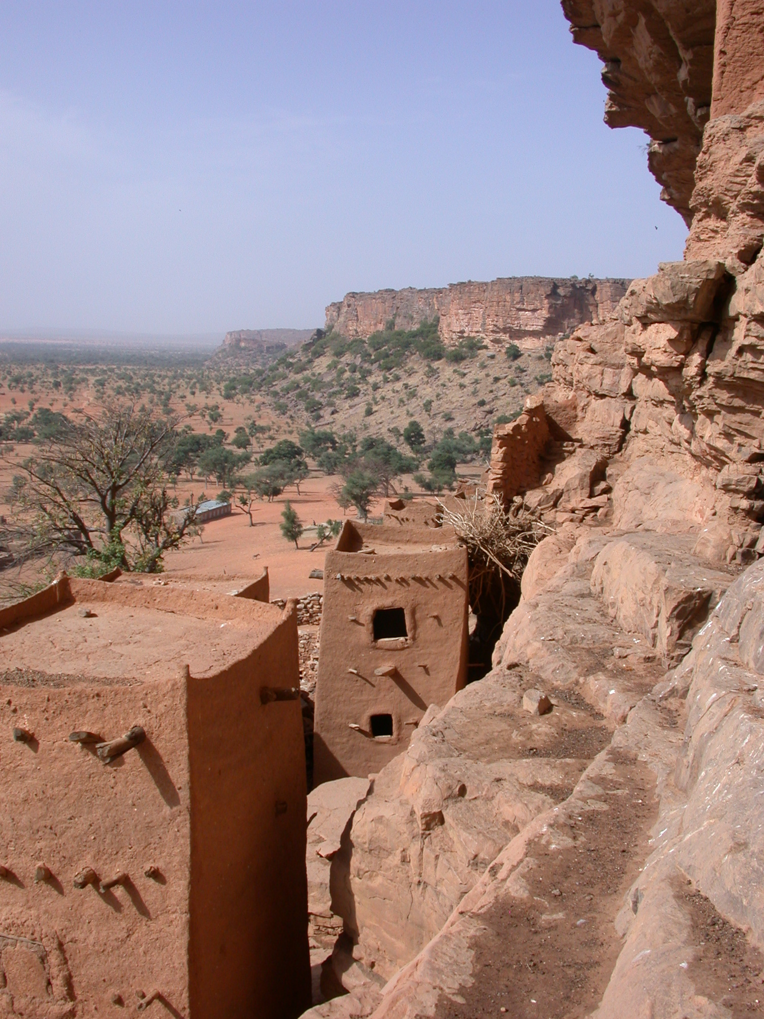 View Across Escarpment Falaise, Tellem Village, Dogon Country, Mali