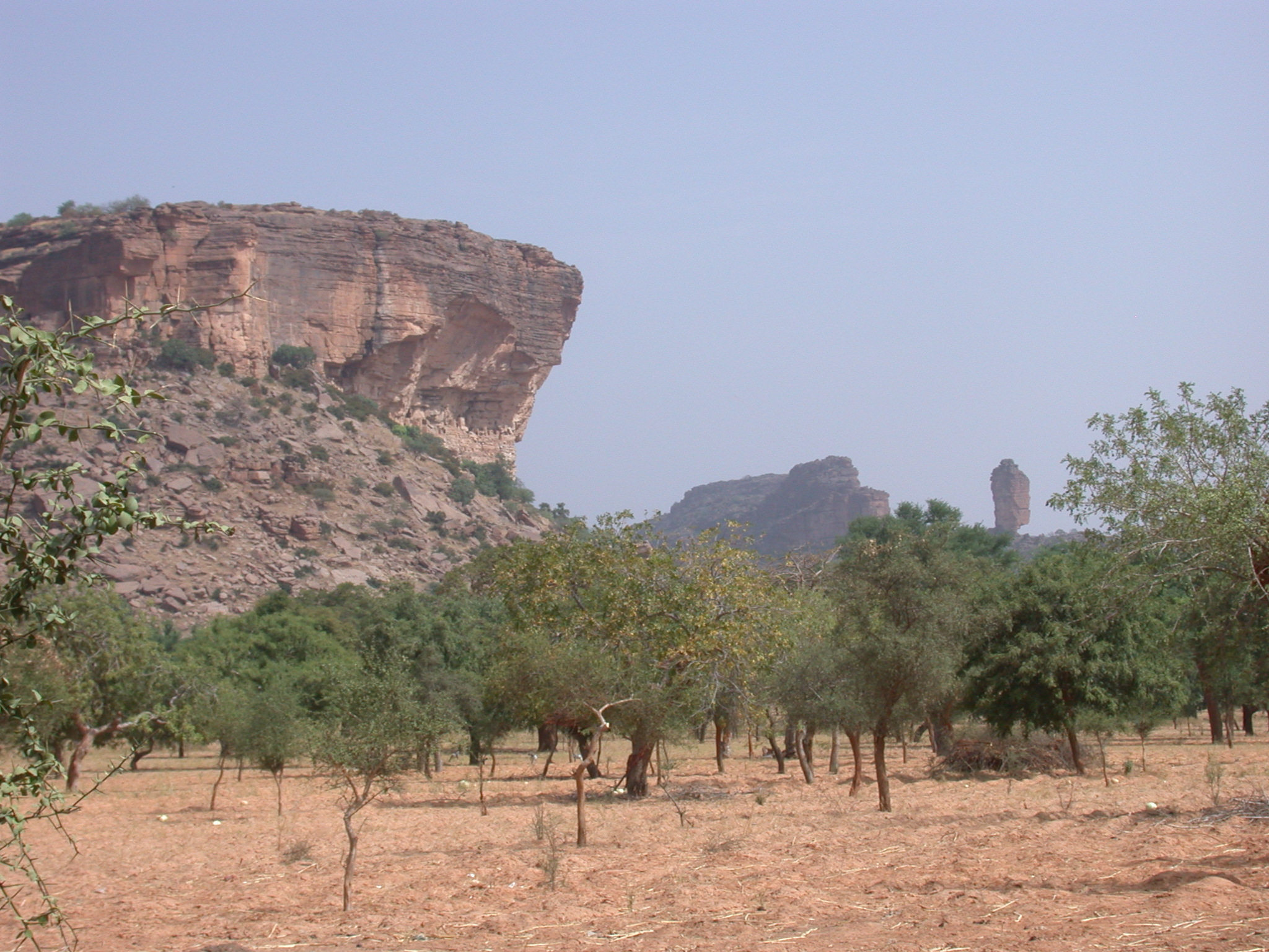 View of So-Called Thumb of Ennde on Path From Tellem Village, Dogon Country, Mali