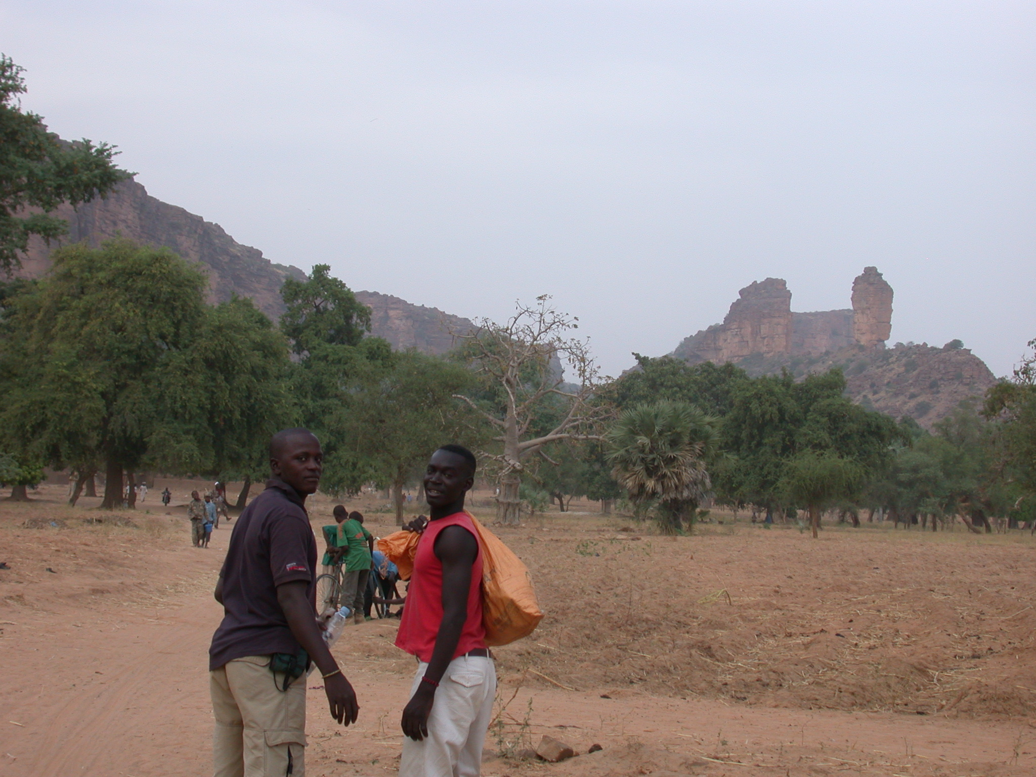 Guide and Friend on Path From Tellem Village to Ennde Village, Dogon Country, Mali