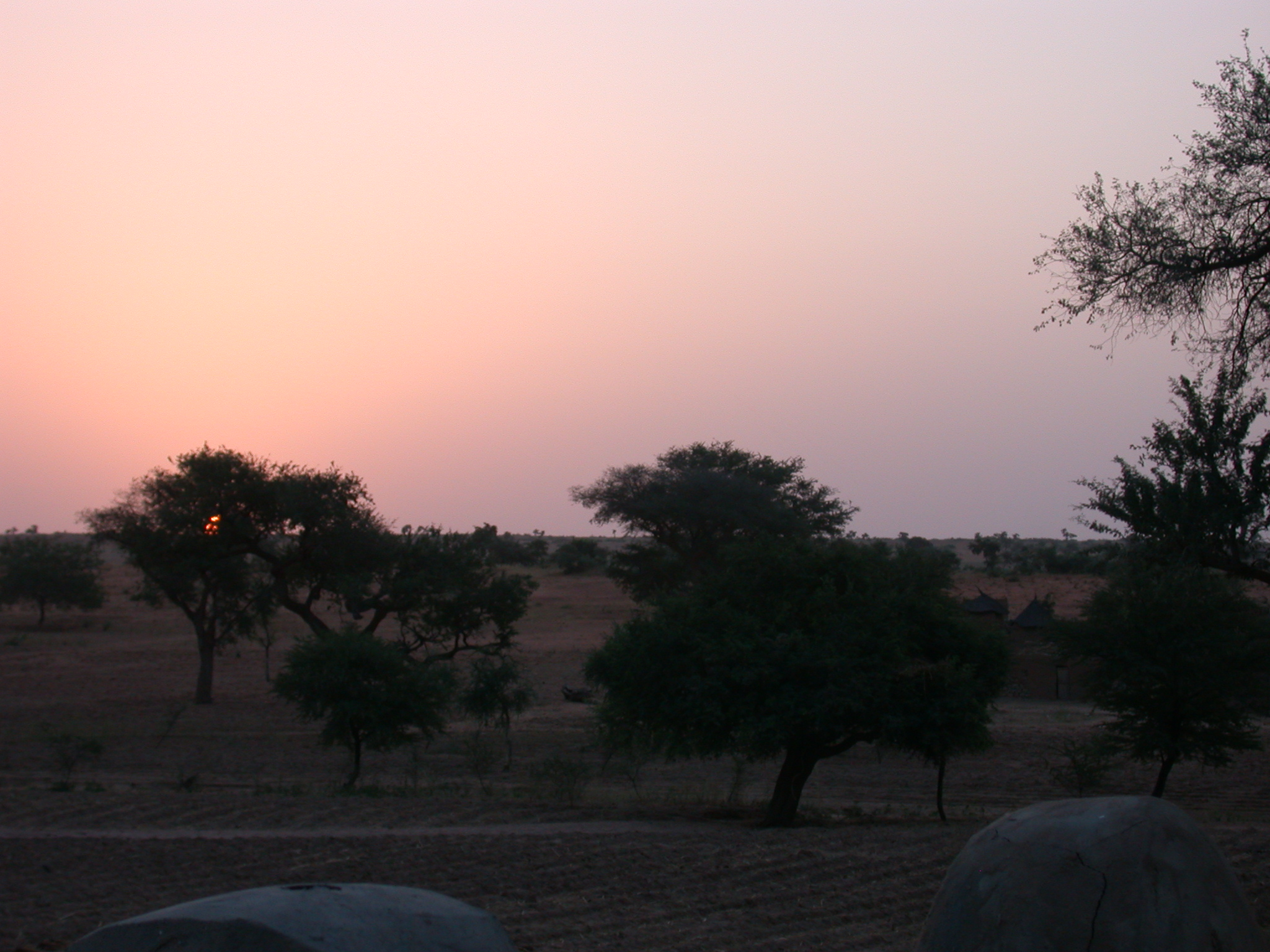 Sunrise at Ennde Village, Dogon Country, Mali