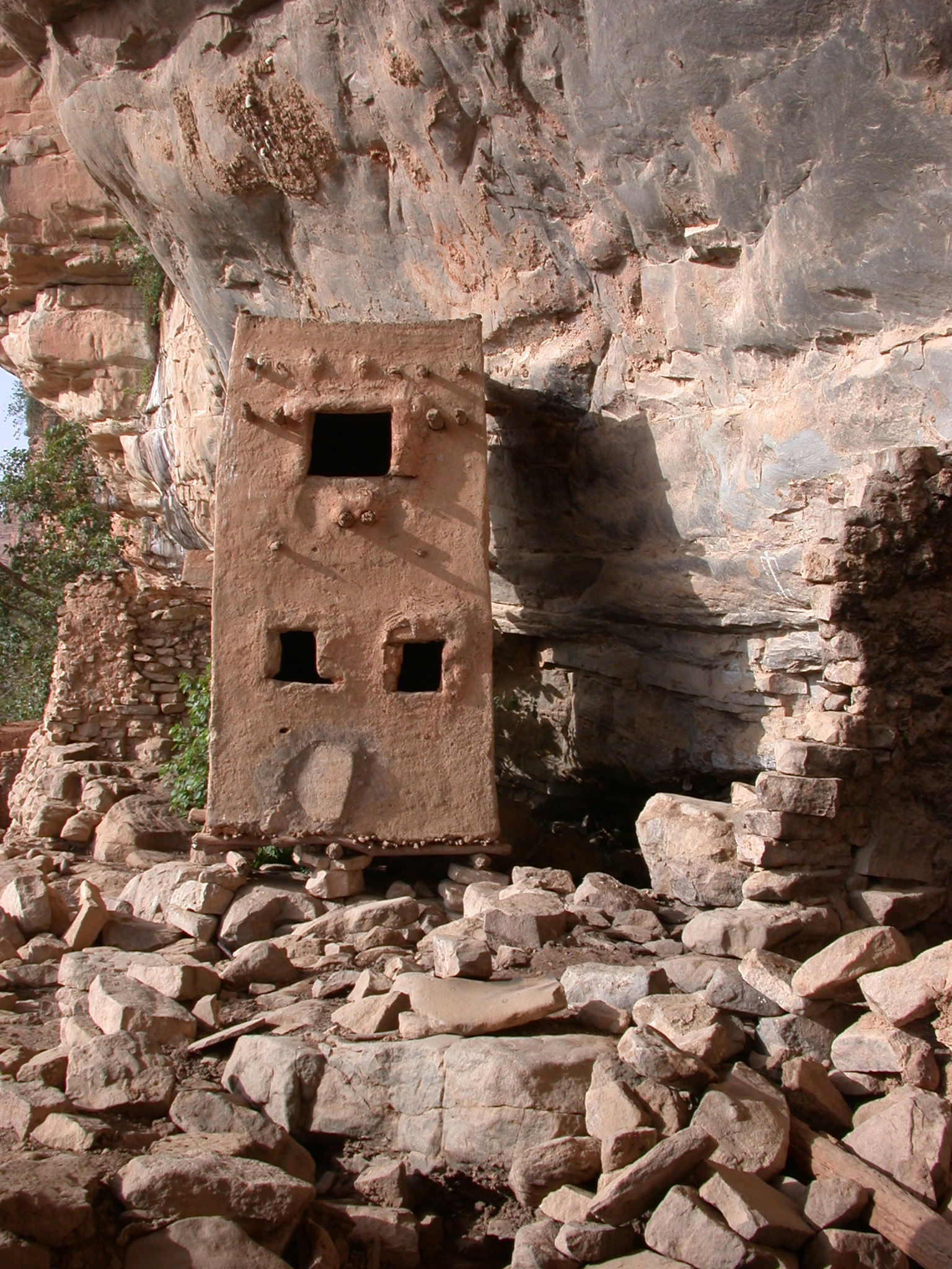Probably Granary on Falaise Escarpment, Old Ennde Village, Dogon Country, Mali