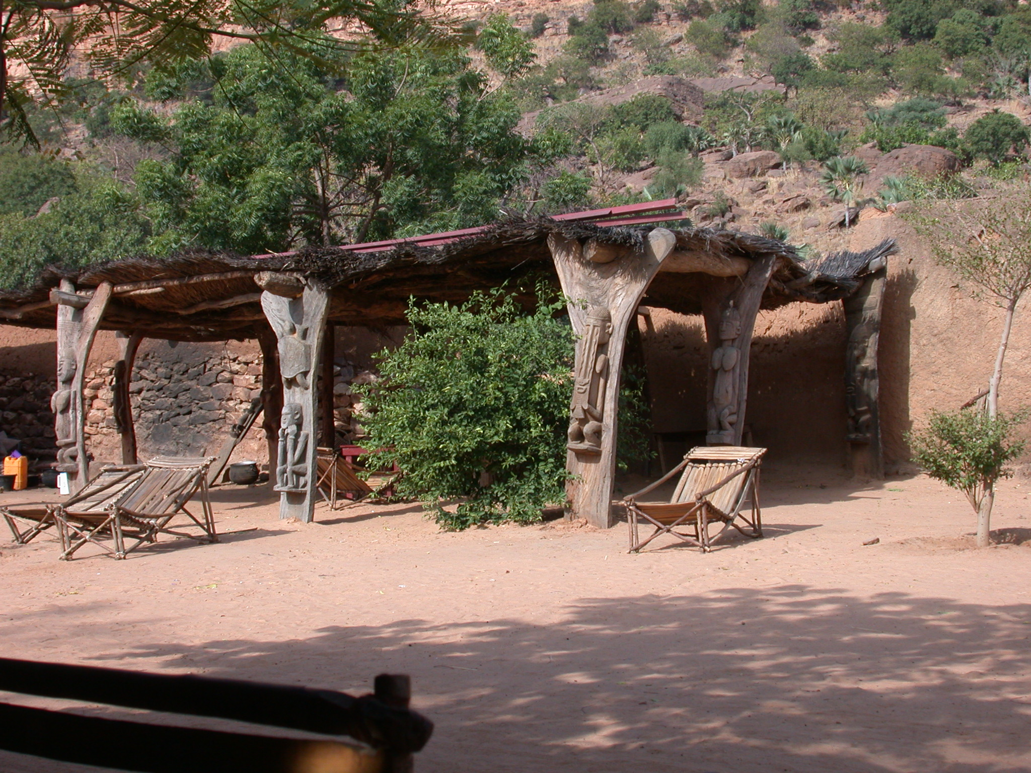 Hotel Courtyard in Village, Dogon Country, Mali