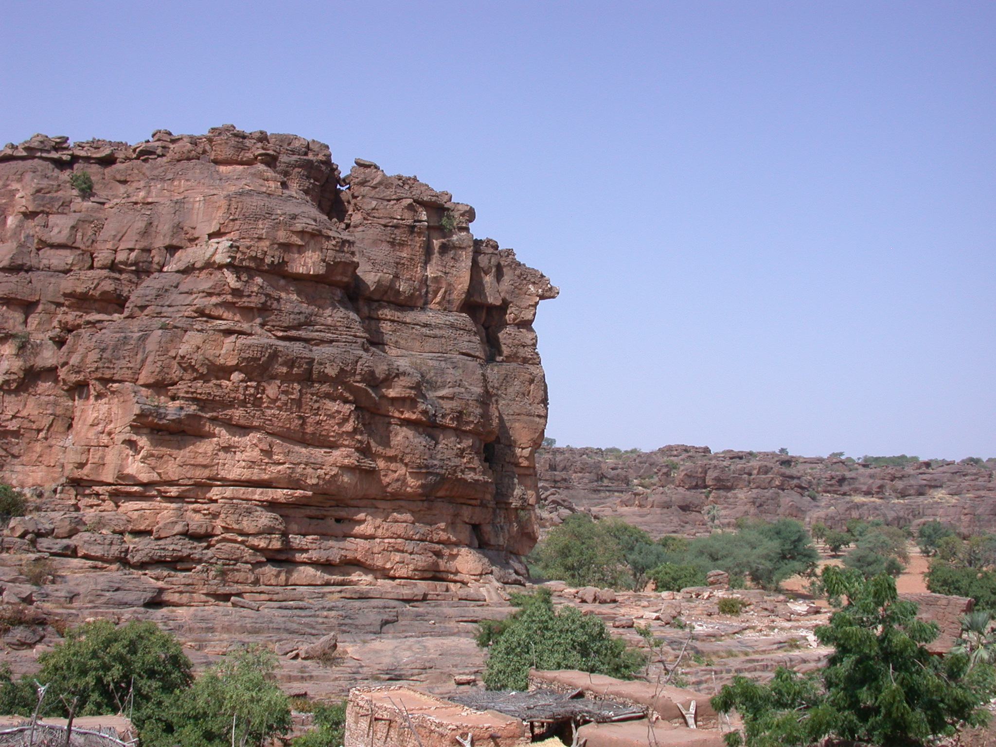 View of Summit of Falaise Escarpment, Begnetmoto Village, Dogon Country, Mali