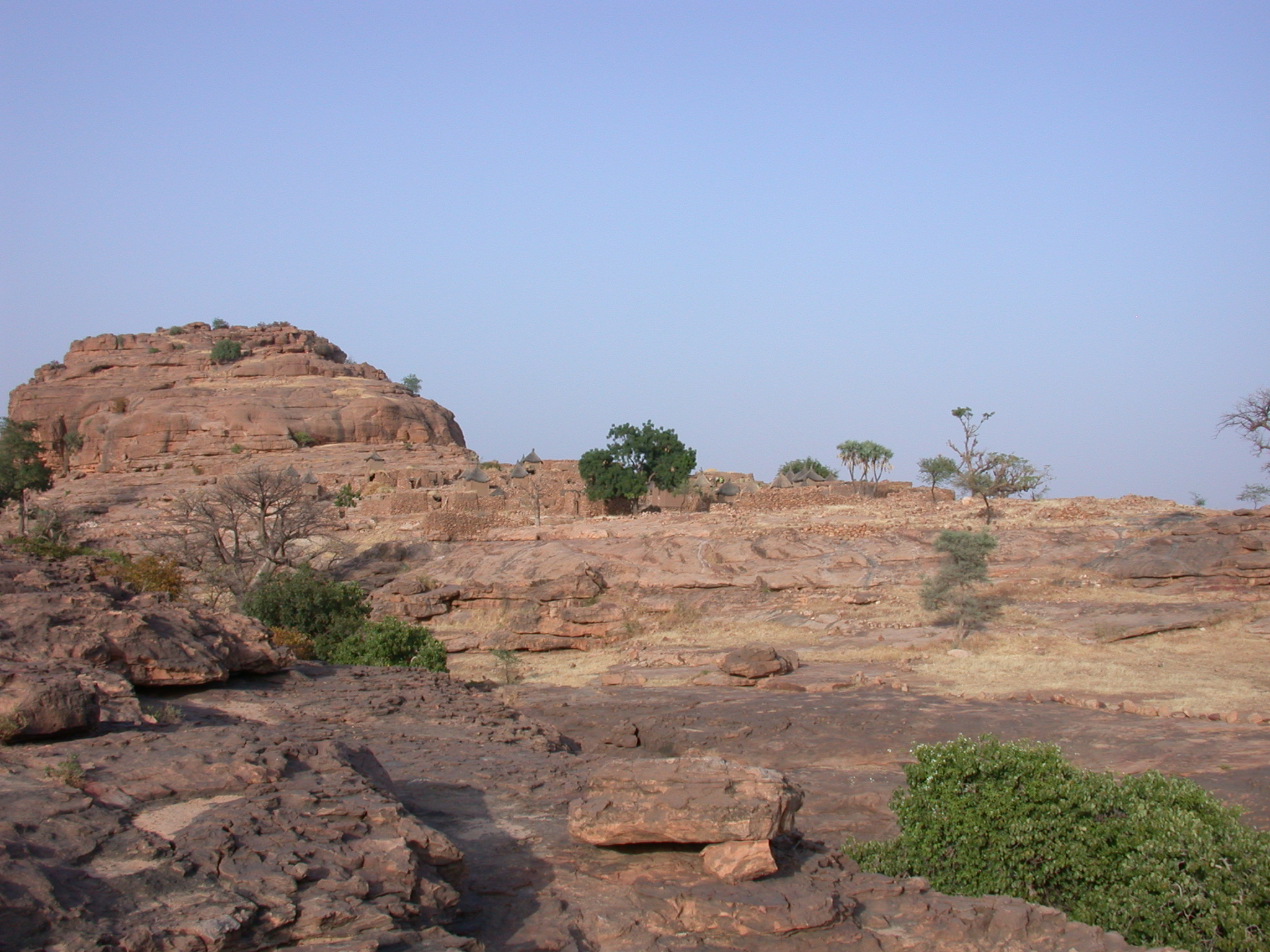 View of Summit of Falaise Escarpment Near Begnetmoto Village, Dogon Country, Mali
