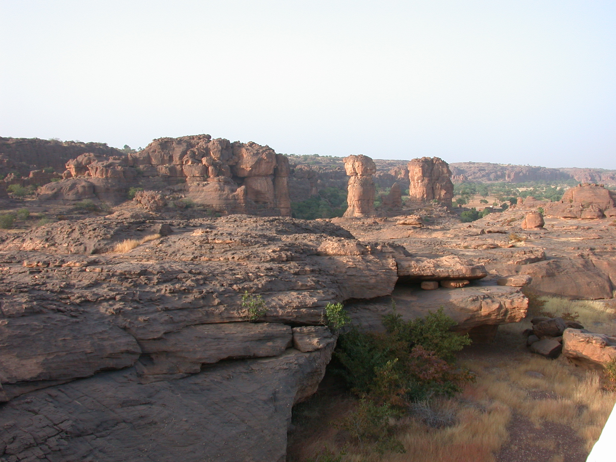 View From Summit of Falaise Escarpment Near Begnetmoto Village, Dogon Country, Mali