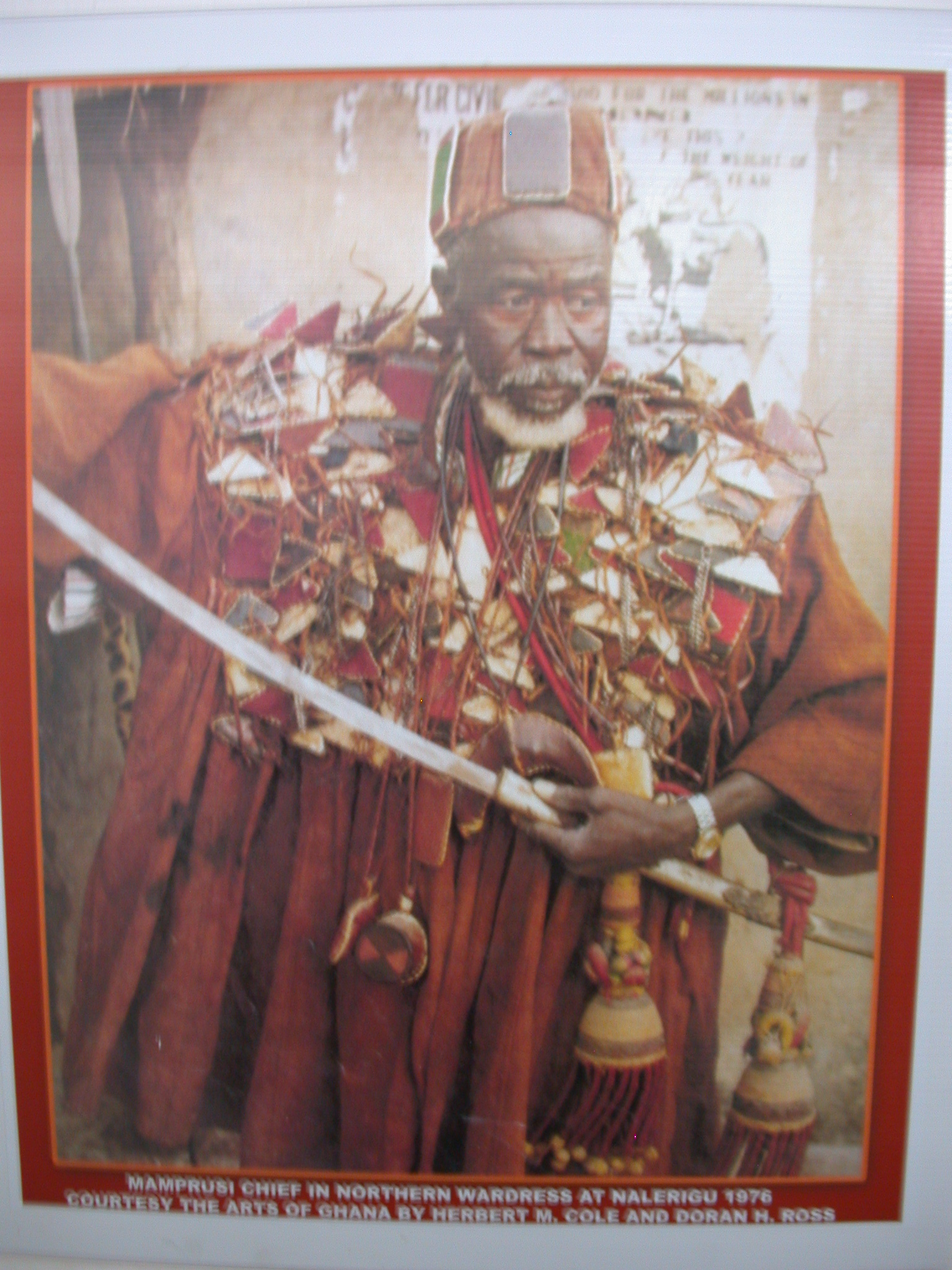 Mamprusi Chief in Northern Wardress, National Museum, Accra, Ghana