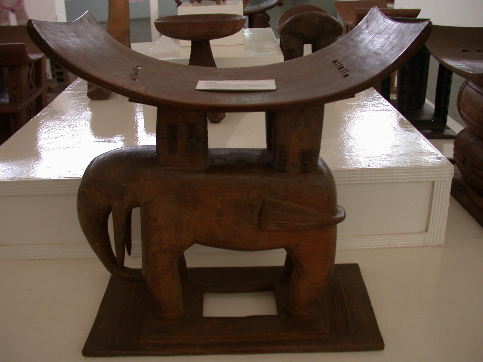 Akan Elephant Stool, National Museum, Accra, Ghana