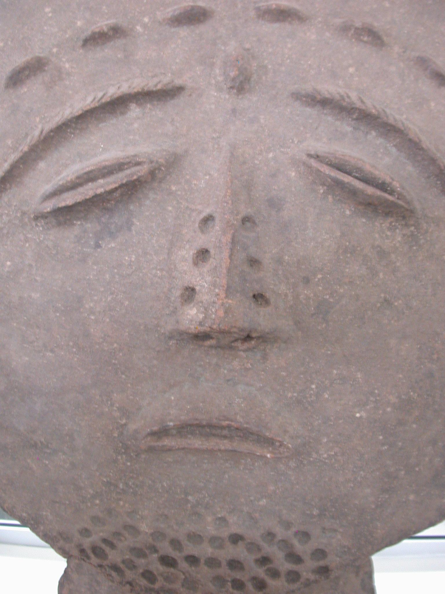 Detail of Terra Cotta Head, National Museum, Accra, Ghana