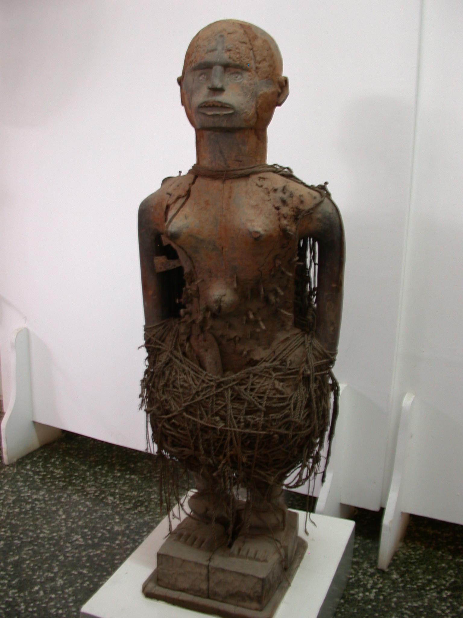 Bakongo Konde Nkisi Ritual Figure, National Museum, Accra, Ghana
