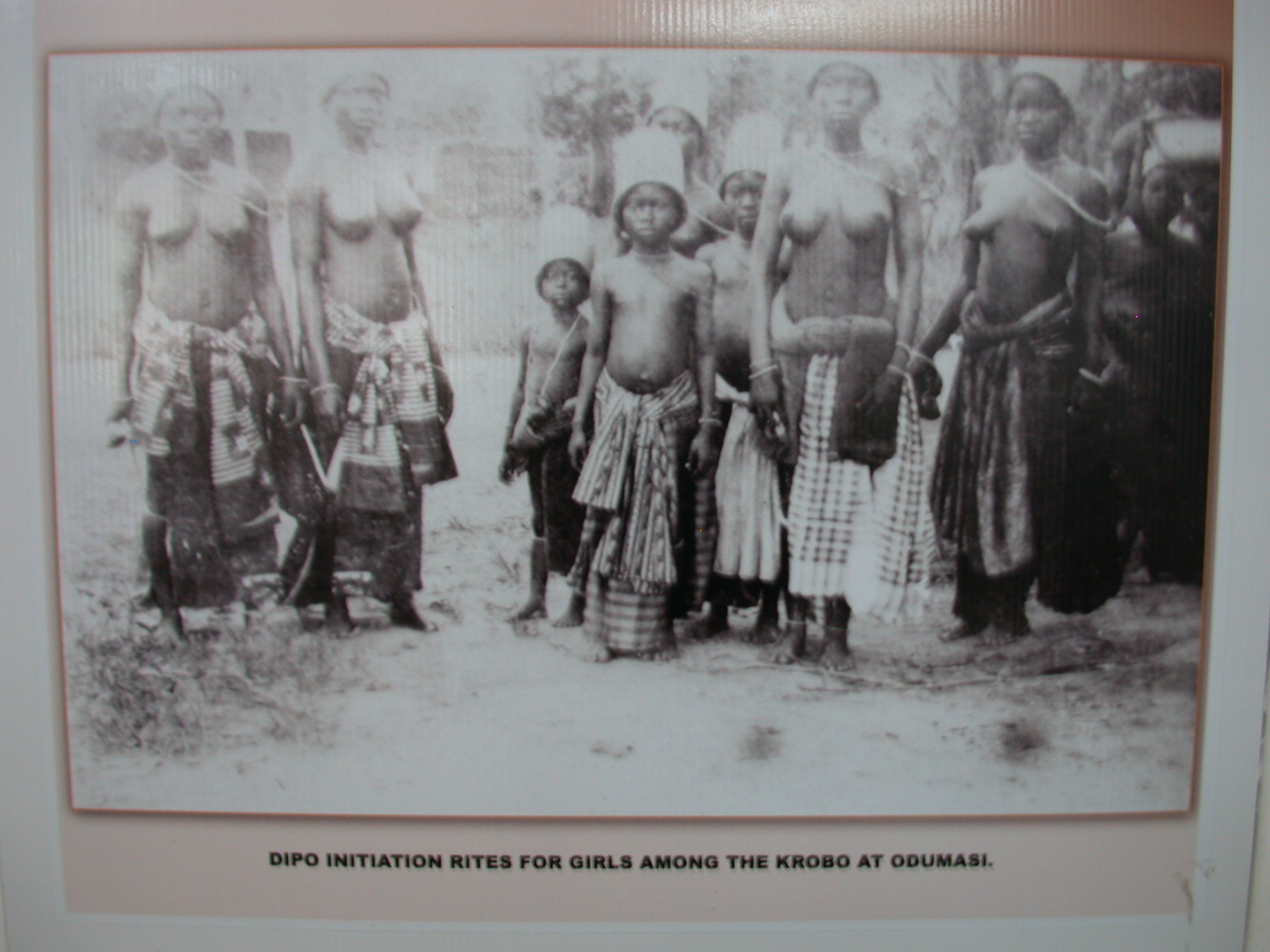 Picture of Dipo Initiation Rites for Girls Among the Krobo at Odumasi, National Museum, Accra, Ghana