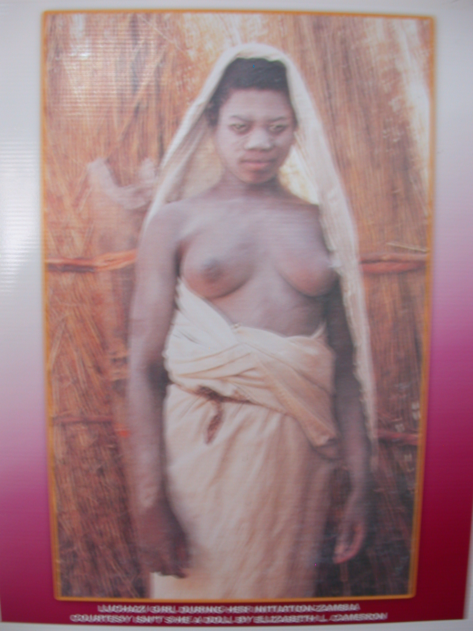 Picture of Girl During Her Initiation in Zambia, National Museum, Accra, Ghana