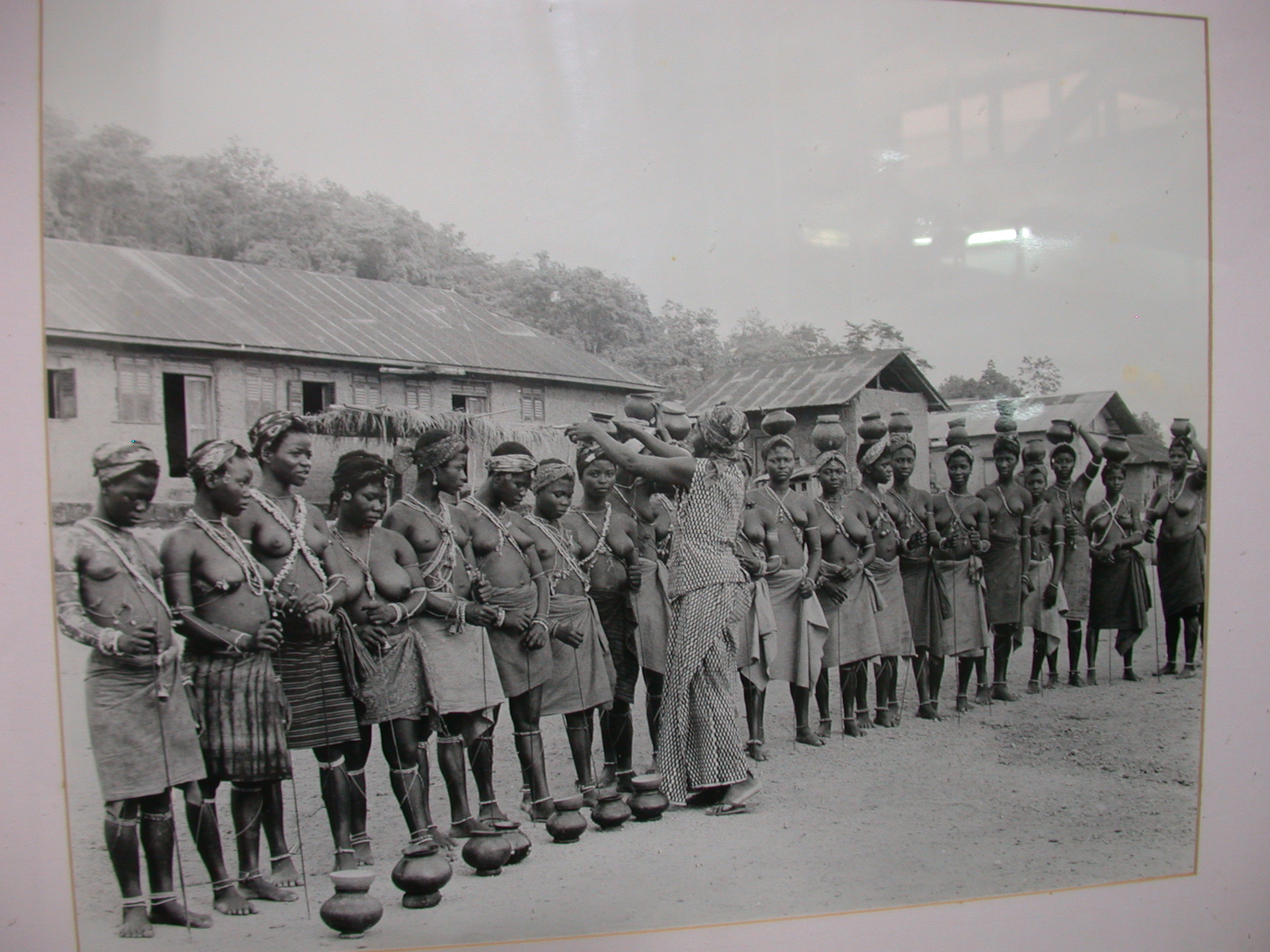 Picture of Queen Mother Initiating Children Into Bakafor Rite, National Museum, Accra, Ghana