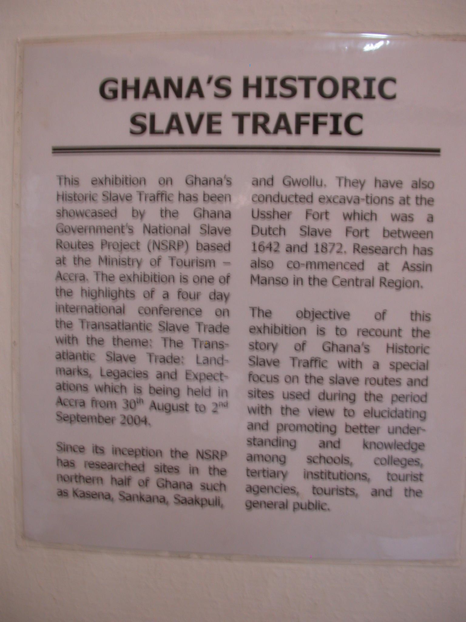 Ghana Slave Traffic Description, National Museum, Accra, Ghana