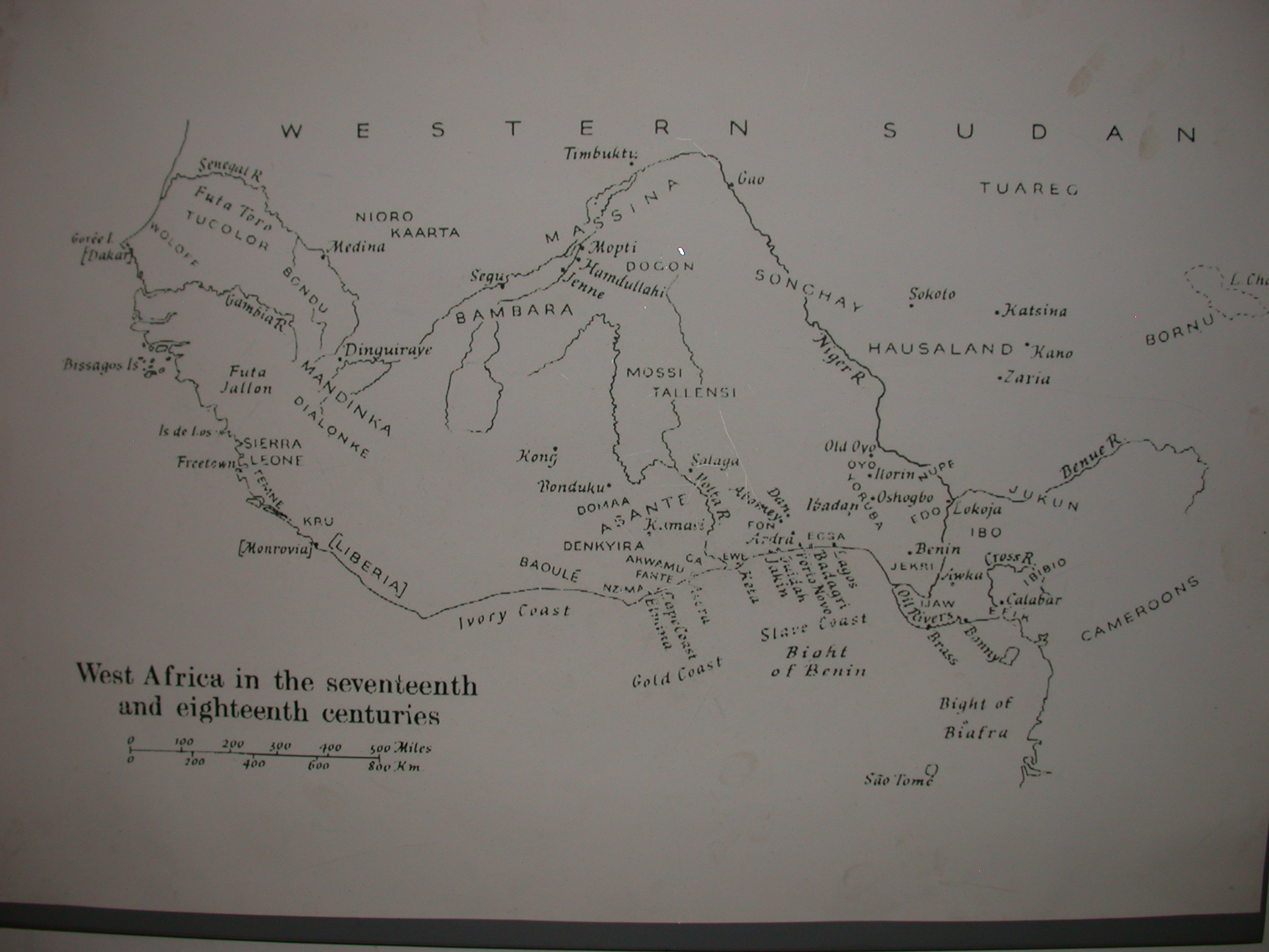 Map of West Africa in 17th and 18th Centuries, National Museum, Accra, Ghana
