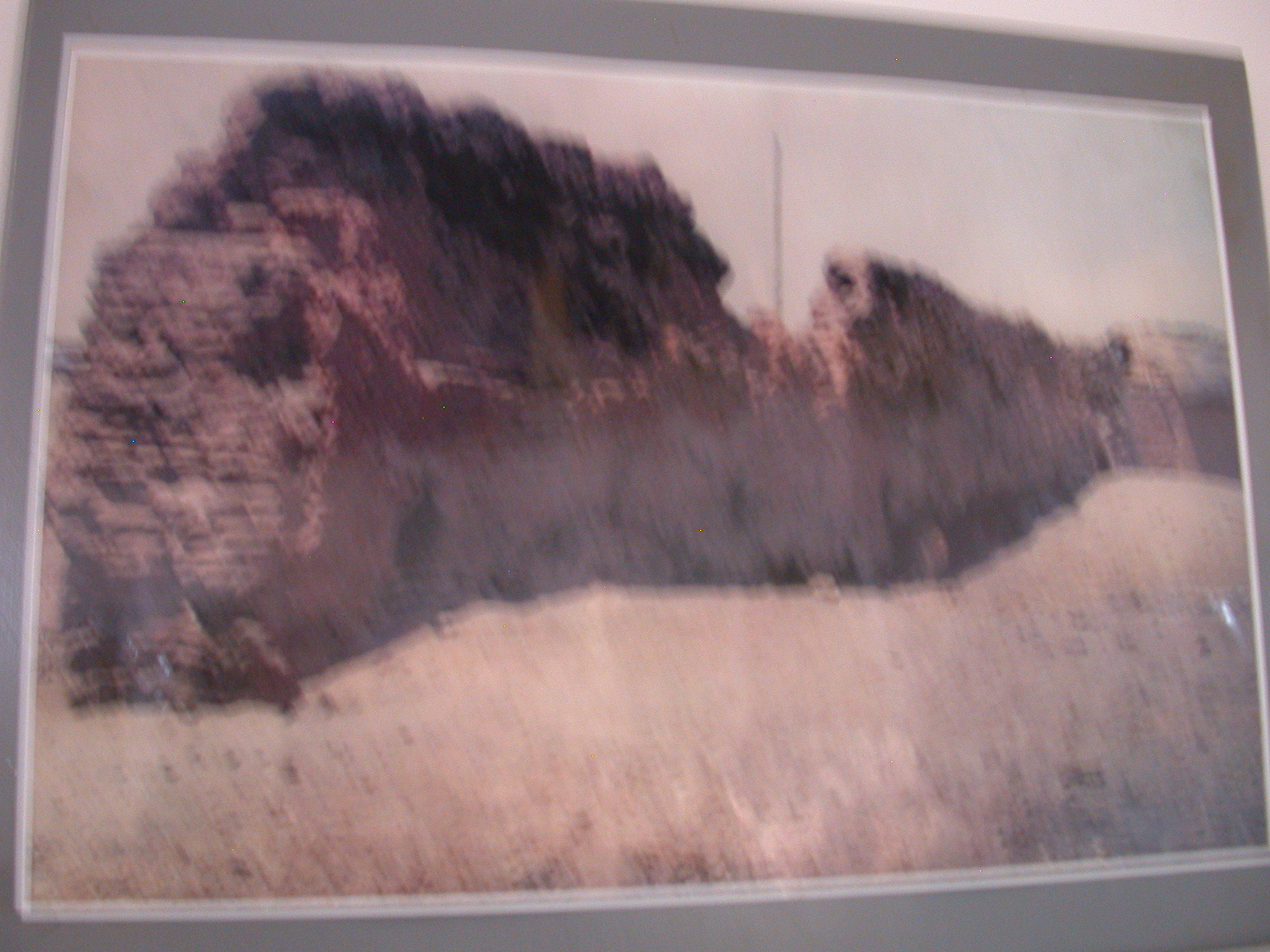 Blurry Picture of Slave Raiders Defense Wall, National Museum, Accra, Ghana