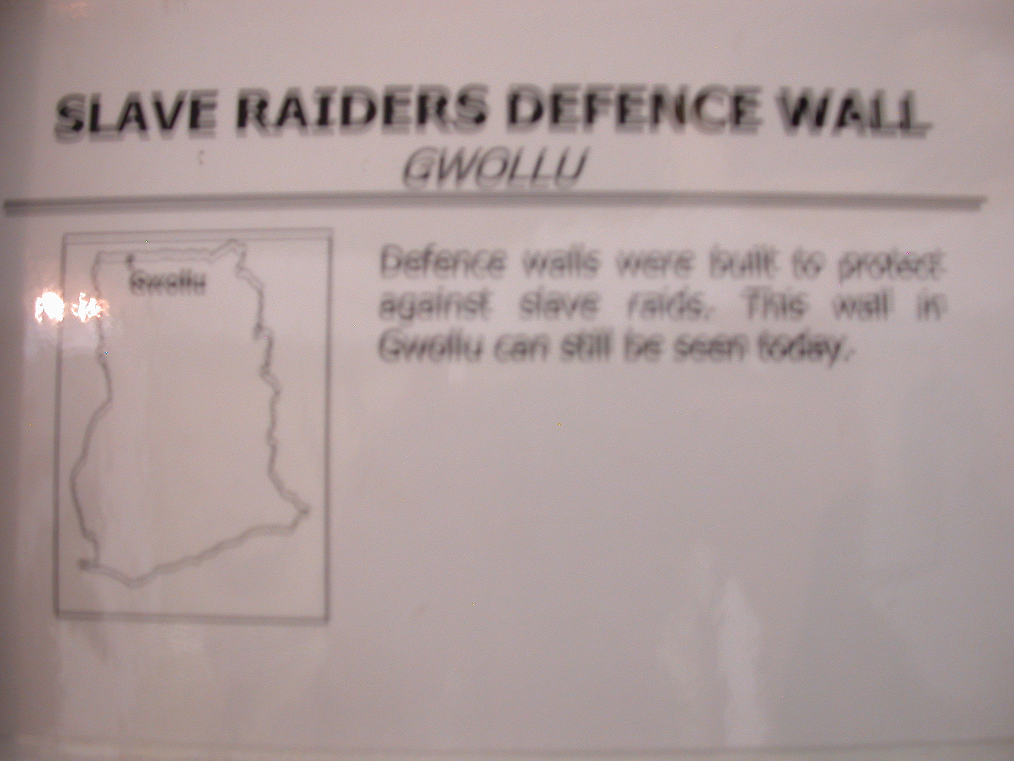 Blurry Label for Picture of Slave Raiders Defense Wall, National Museum, Accra, Ghana