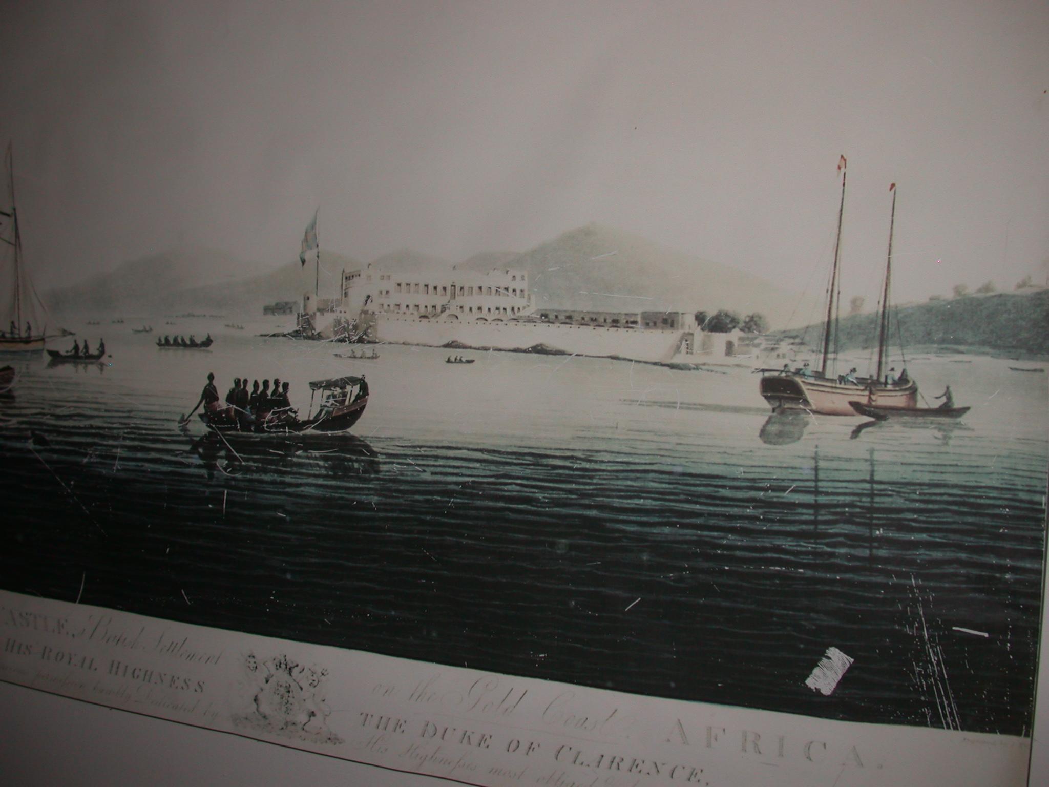 Cape Coast Castle Engraving, National Museum, Accra, Ghana