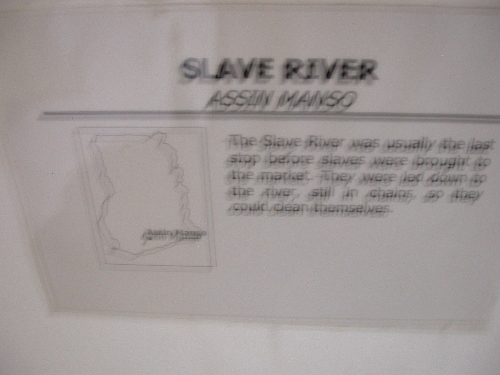 Blurry Label for Picture of Slave River, National Museum, Accra, Ghana