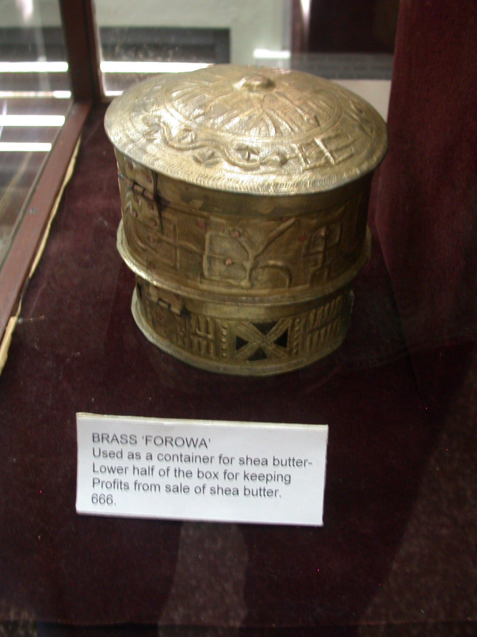 Brass Forowa Shea Butter Container, National Museum, Accra, Ghana