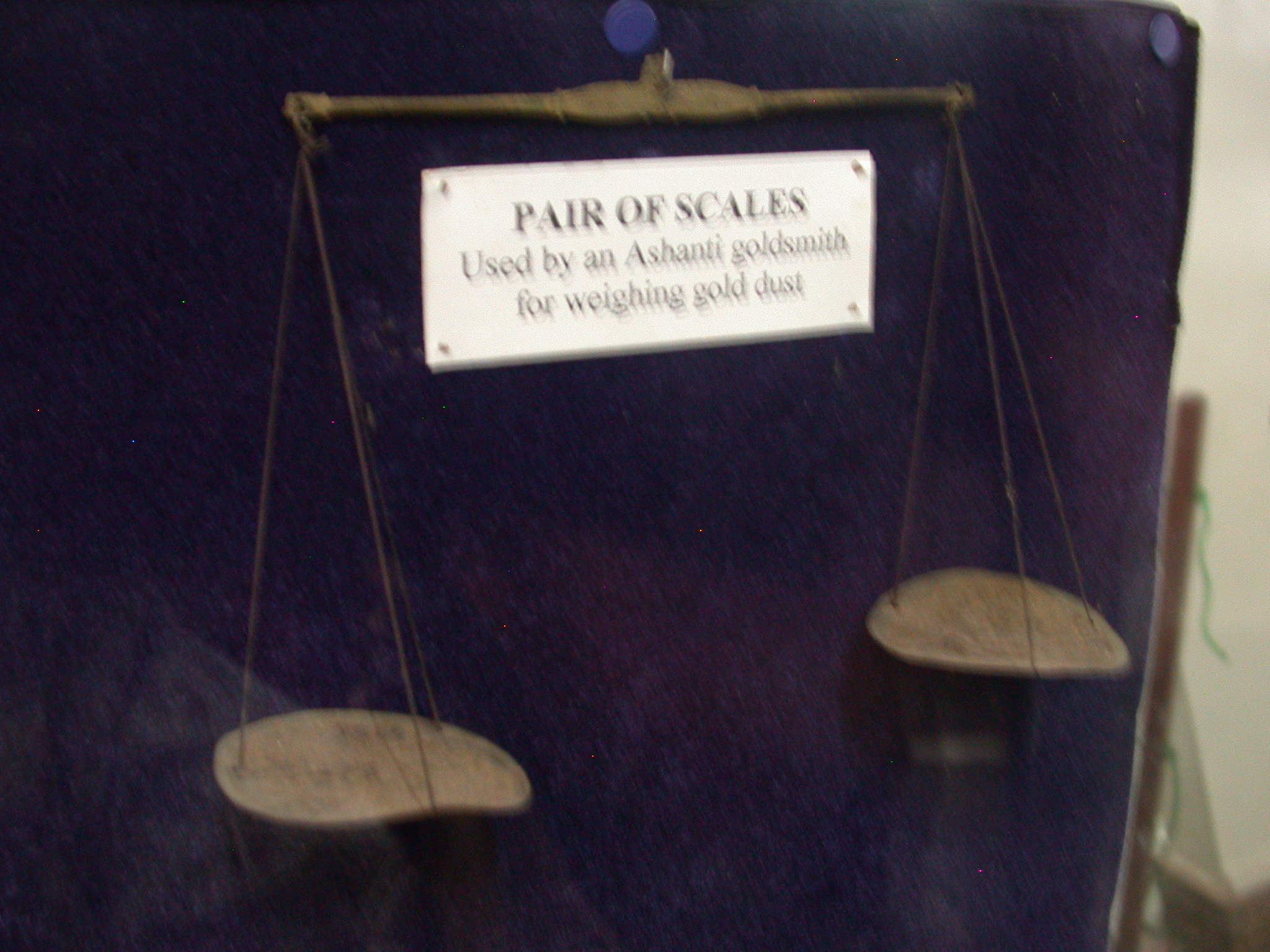 Scale Used by Ashanti Asante Goldsmith to Weigh Gold Dust, National Museum, Accra, Ghana