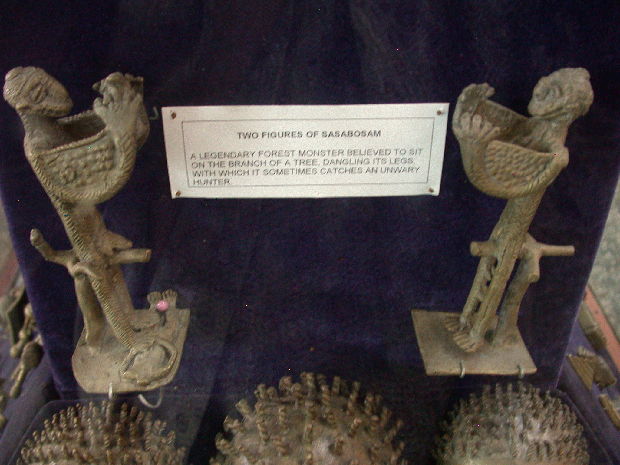 Two Figures of Sasabosam Forest Monster, National Museum, Accra, Ghana