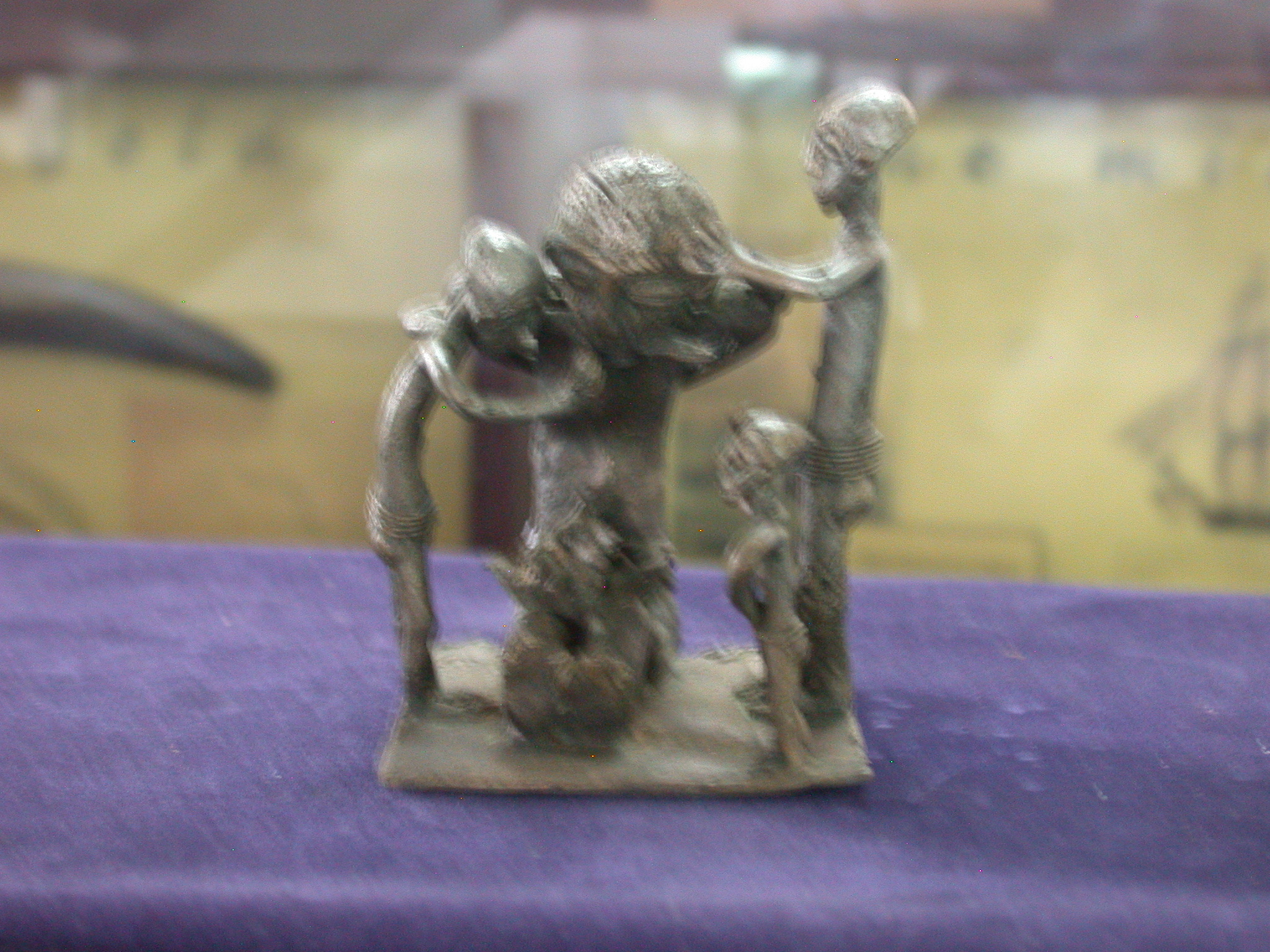 Interesting Figure, Probably Brass, National Museum, Accra, Ghaan
