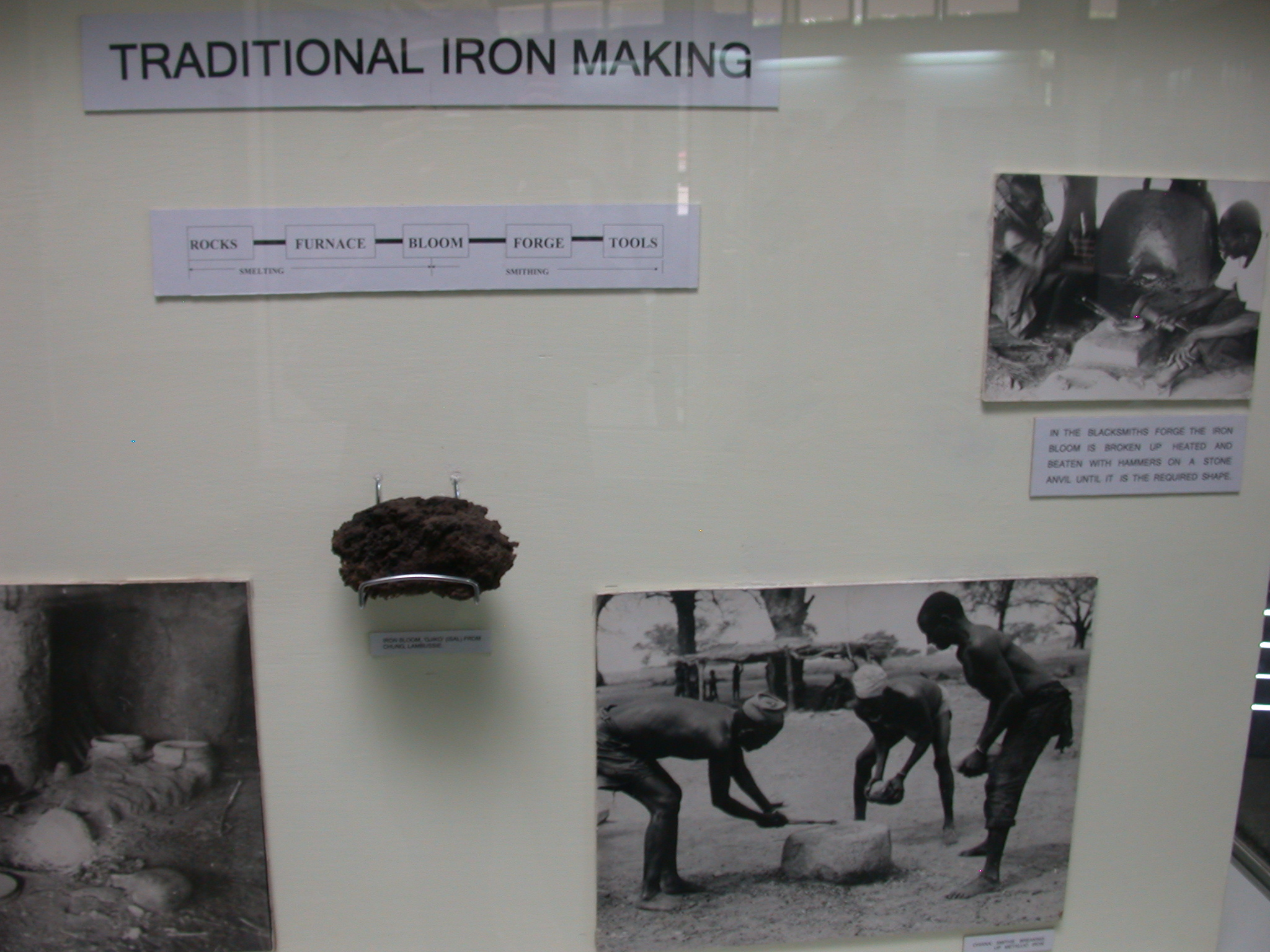 Traditional Iron Making, Blacksmith and Forge, National Museum, Accra, Ghana