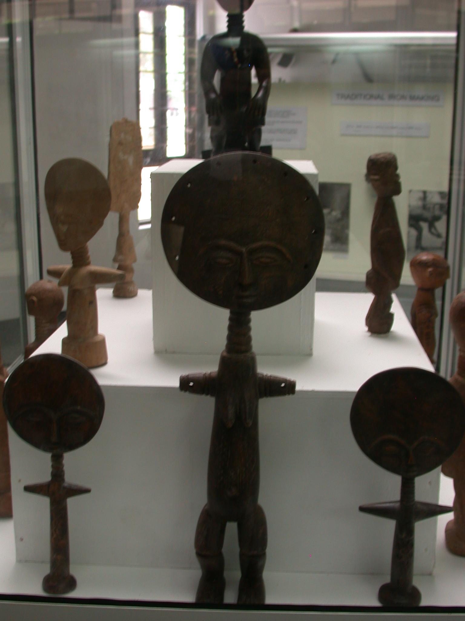 Akuaba or Akweba Dolls, National Museum, Accra, Ghana
