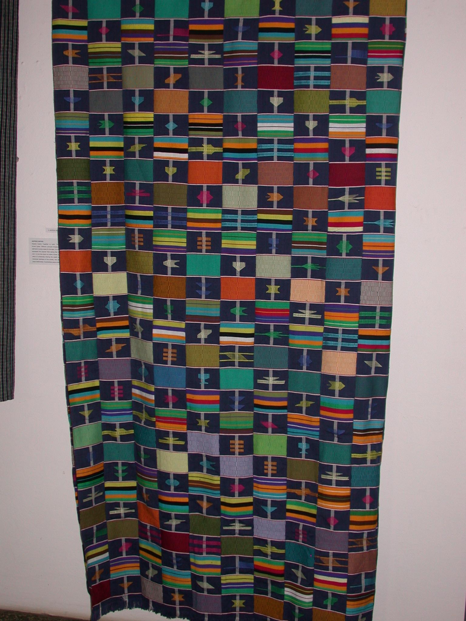 Traditional Akpedo Novie Cloth, National Museum, Accra, Ghana