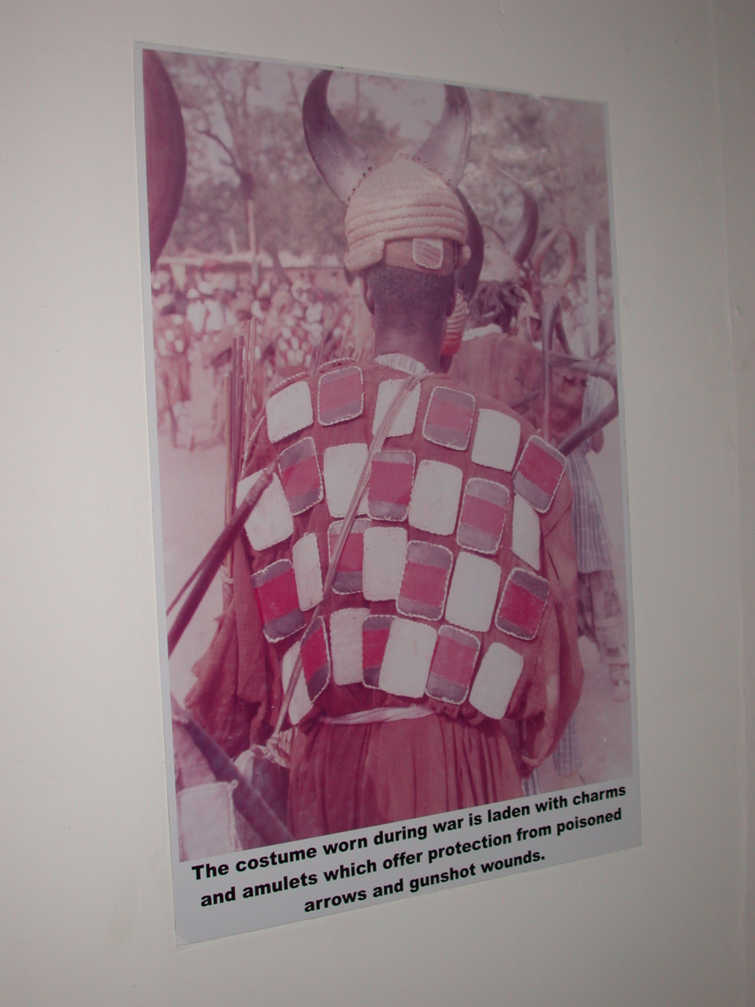 Picture of War Costume Laden With Charms and Amulets, National Museum, Accra, Ghana