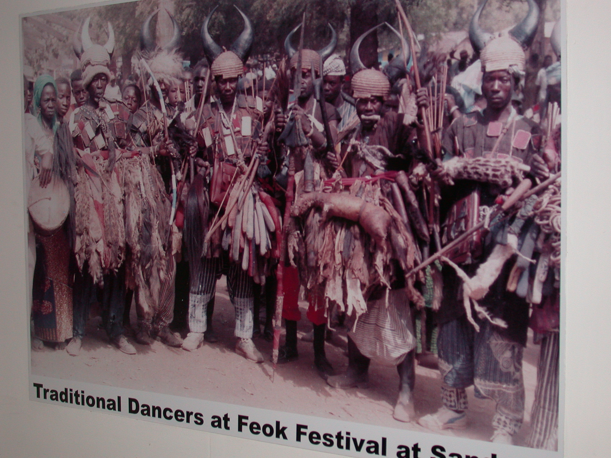 Picture of Traditional Dancers at Feok Festival in Sandema, National Museum, Accra, Ghana