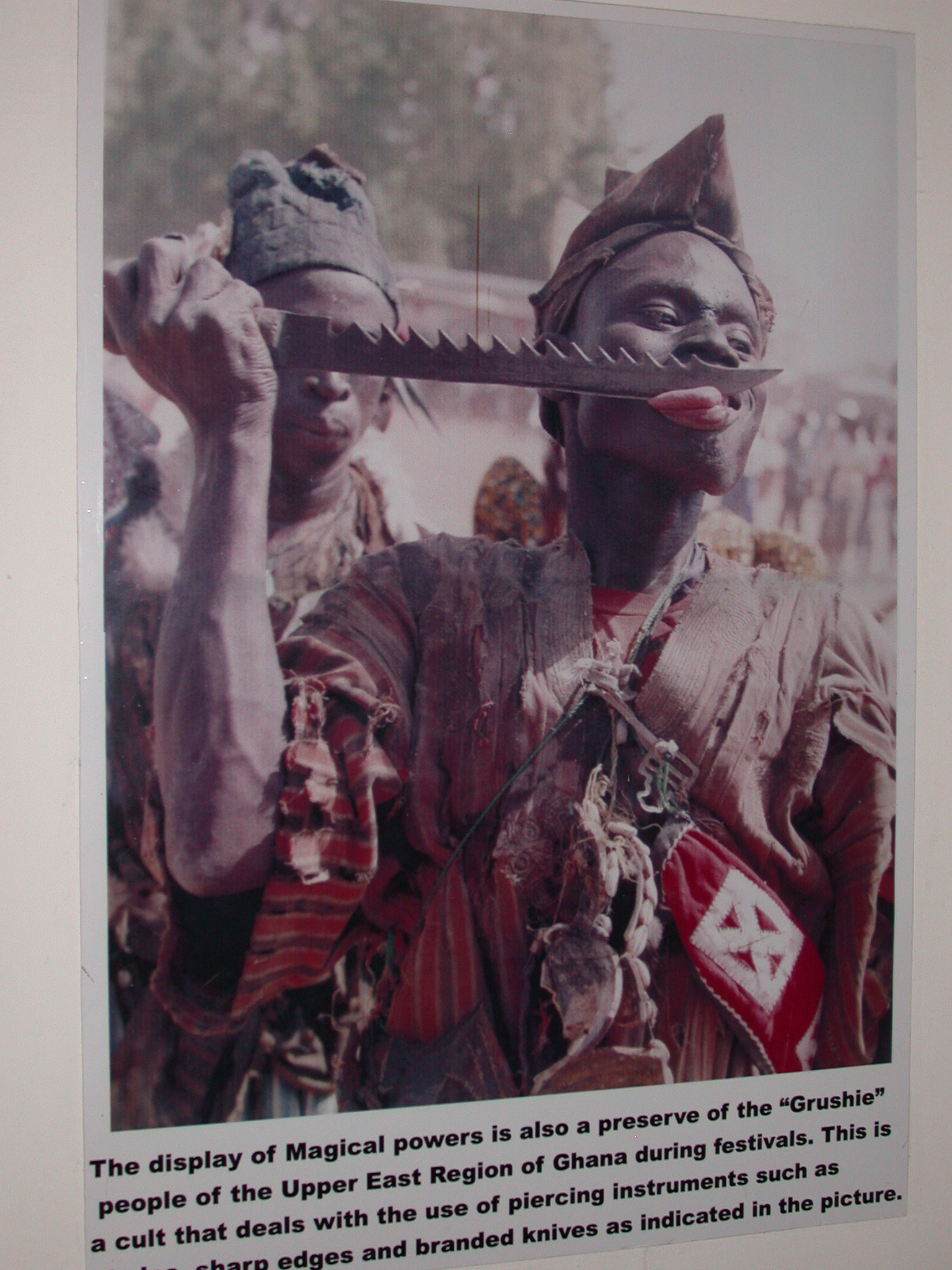 Picture of Grushie Person and Cult of Piercing Instruments, National Museum, Accra, Ghana