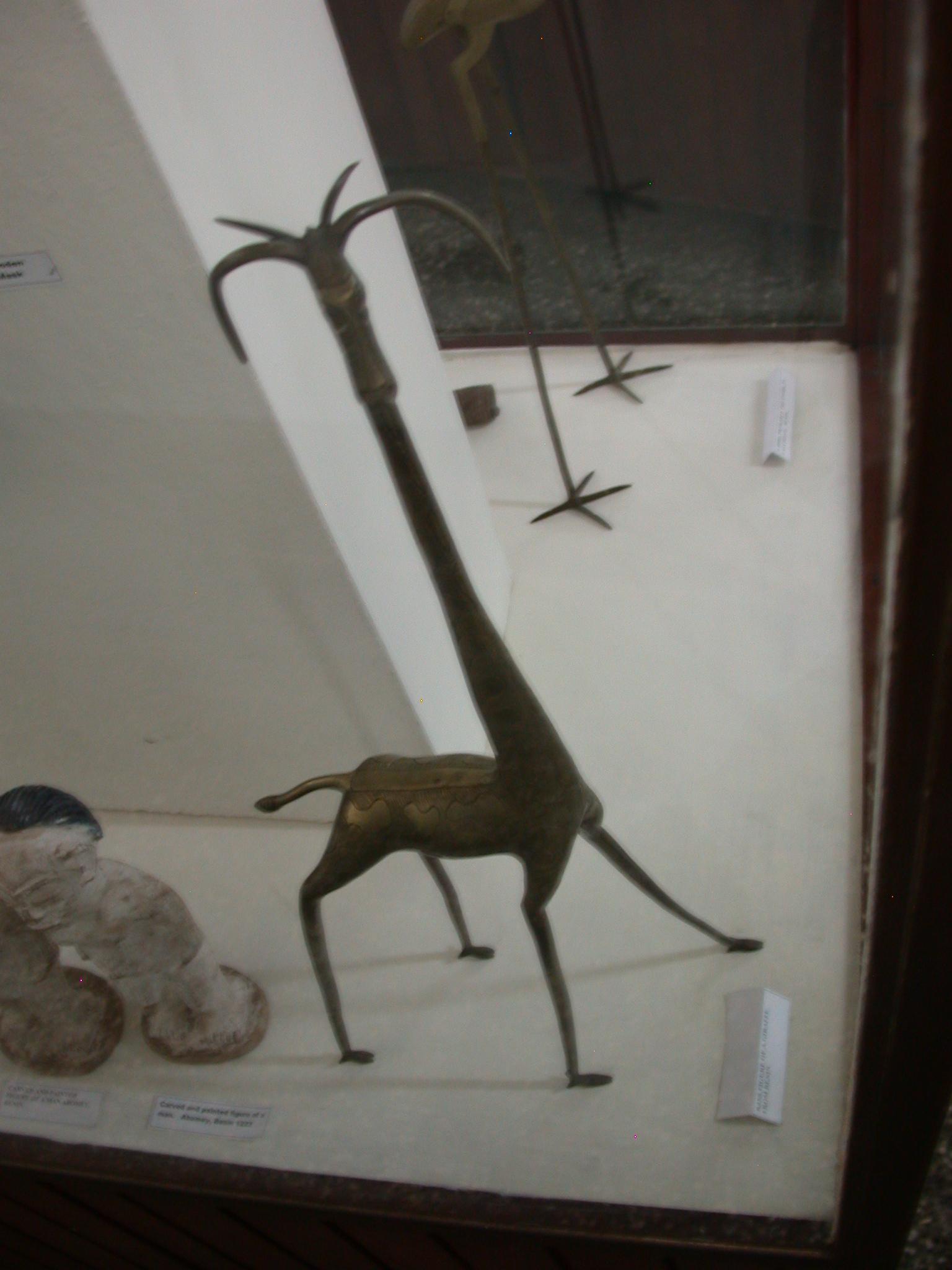 Brass Giraffe From Benin, National Museum, Accra, Ghana