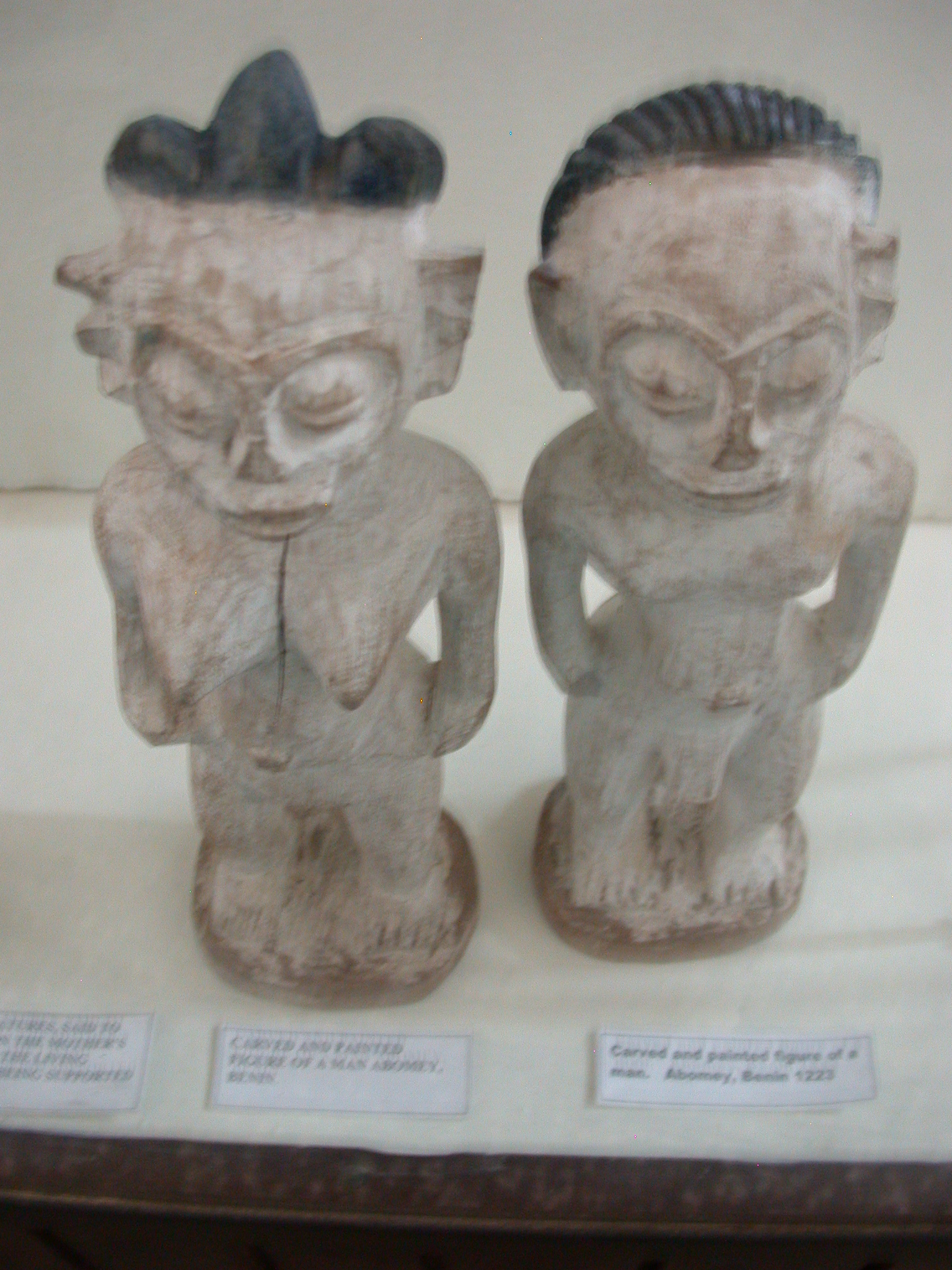 Carved and Painted Figures From Abomey, Benin, National Museum, Accra, Ghana
