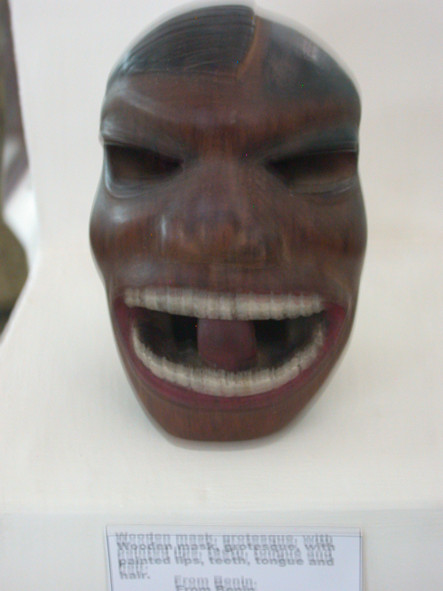 Grotesque Wooden Mask From Benin, National Museum, Accra, Ghaan
