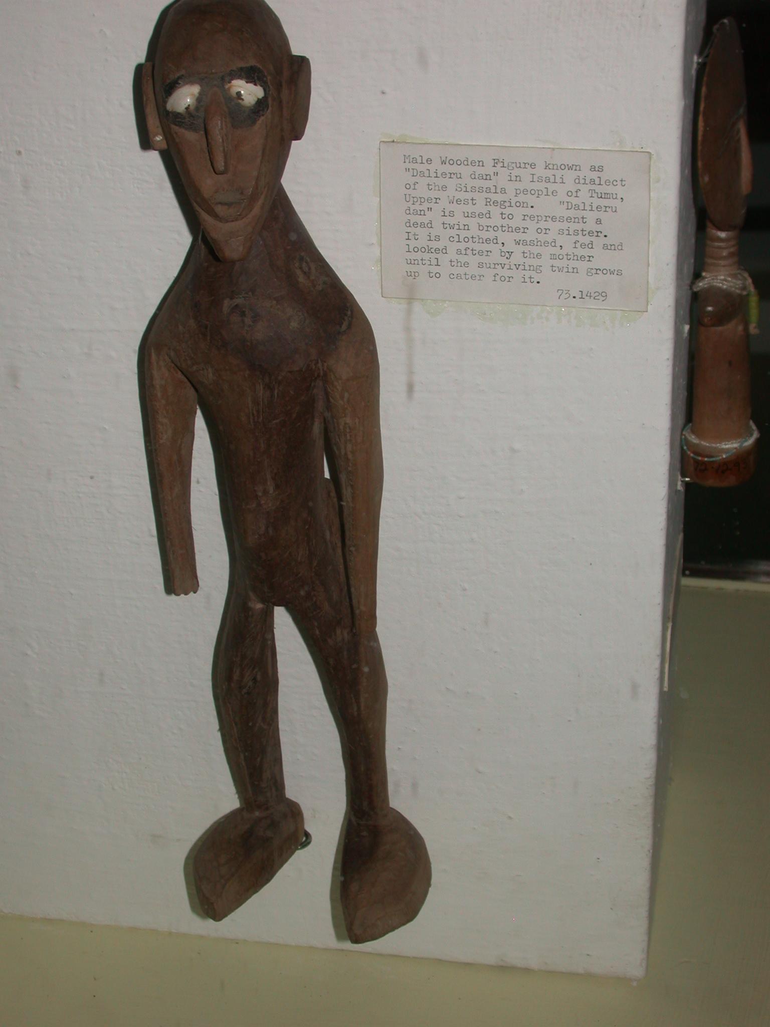 Dead Twin Figure Known as Dalieru Dan, Isali Dialect, Sissala People of Tumu, Upper West Region, National Museum, Accra, Ghana