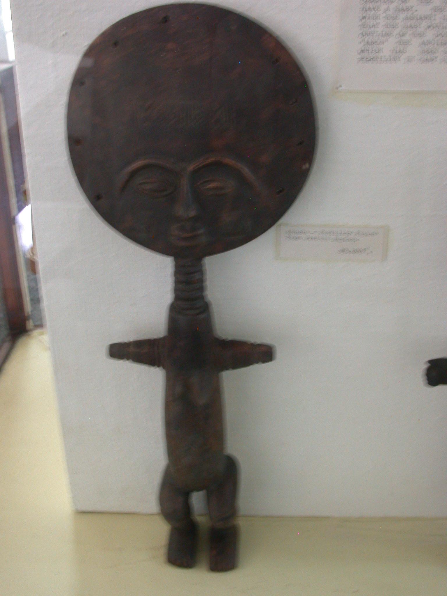 Akuaba or Akweba Doll, National Museum, Accra, Ghana
