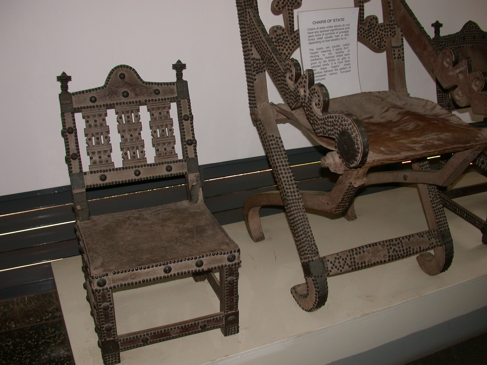 Chairs of State, National Museum, Accra, Ghana
