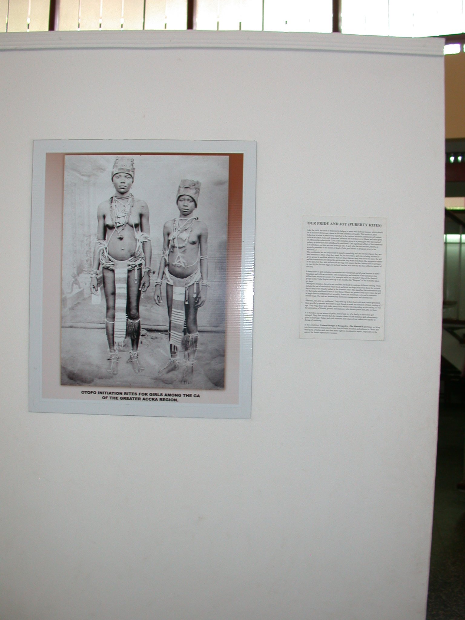 Picture of Otofo Initiation Rites for Girls Among the Ga, National Musem, Accra, Ghana