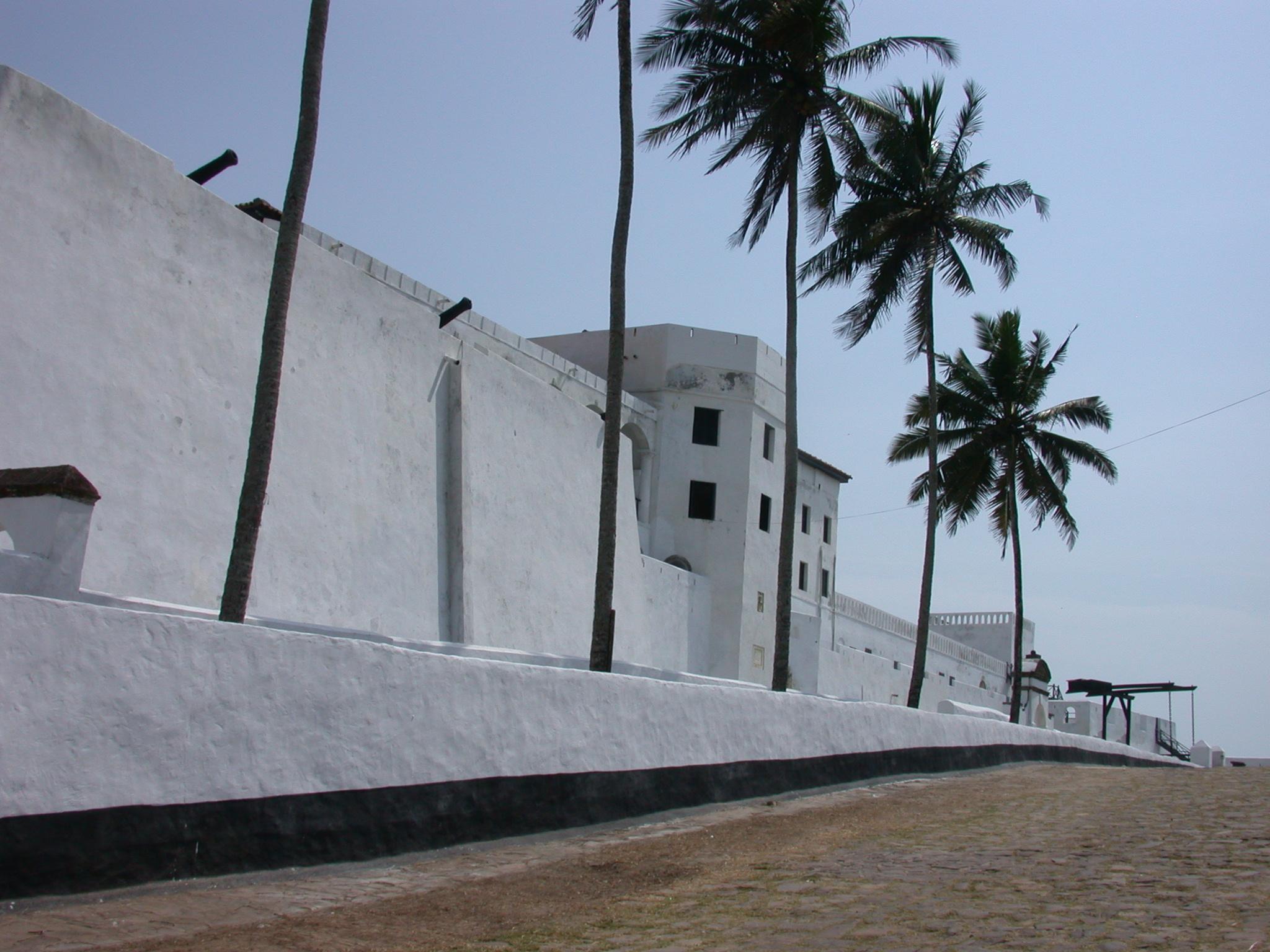 Approaching Elmina Slave Fort, Elmina, Ghana