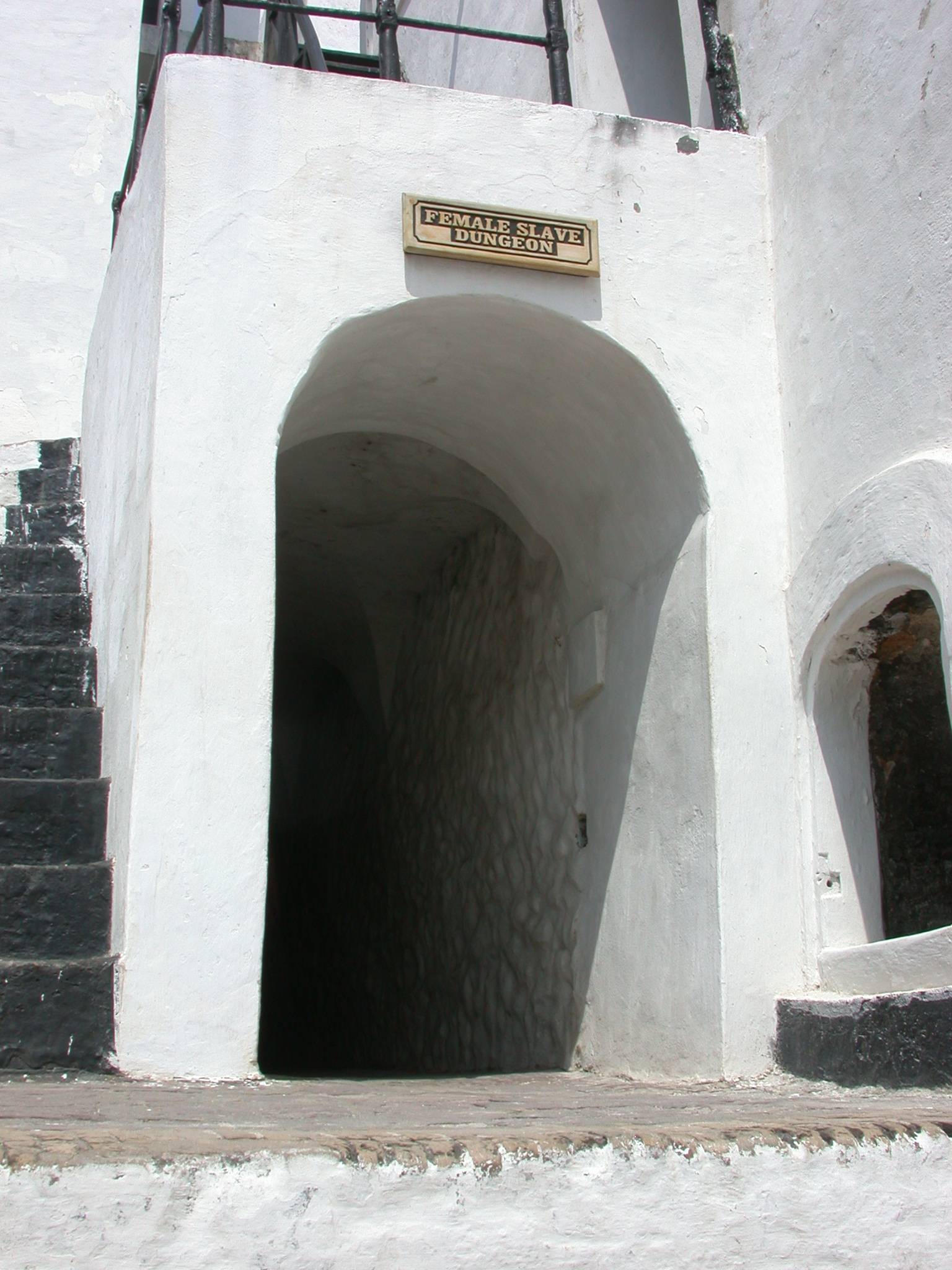 Entrance to Female Slave Dungeon, Elmina Slave Fort, Elmina, Ghana