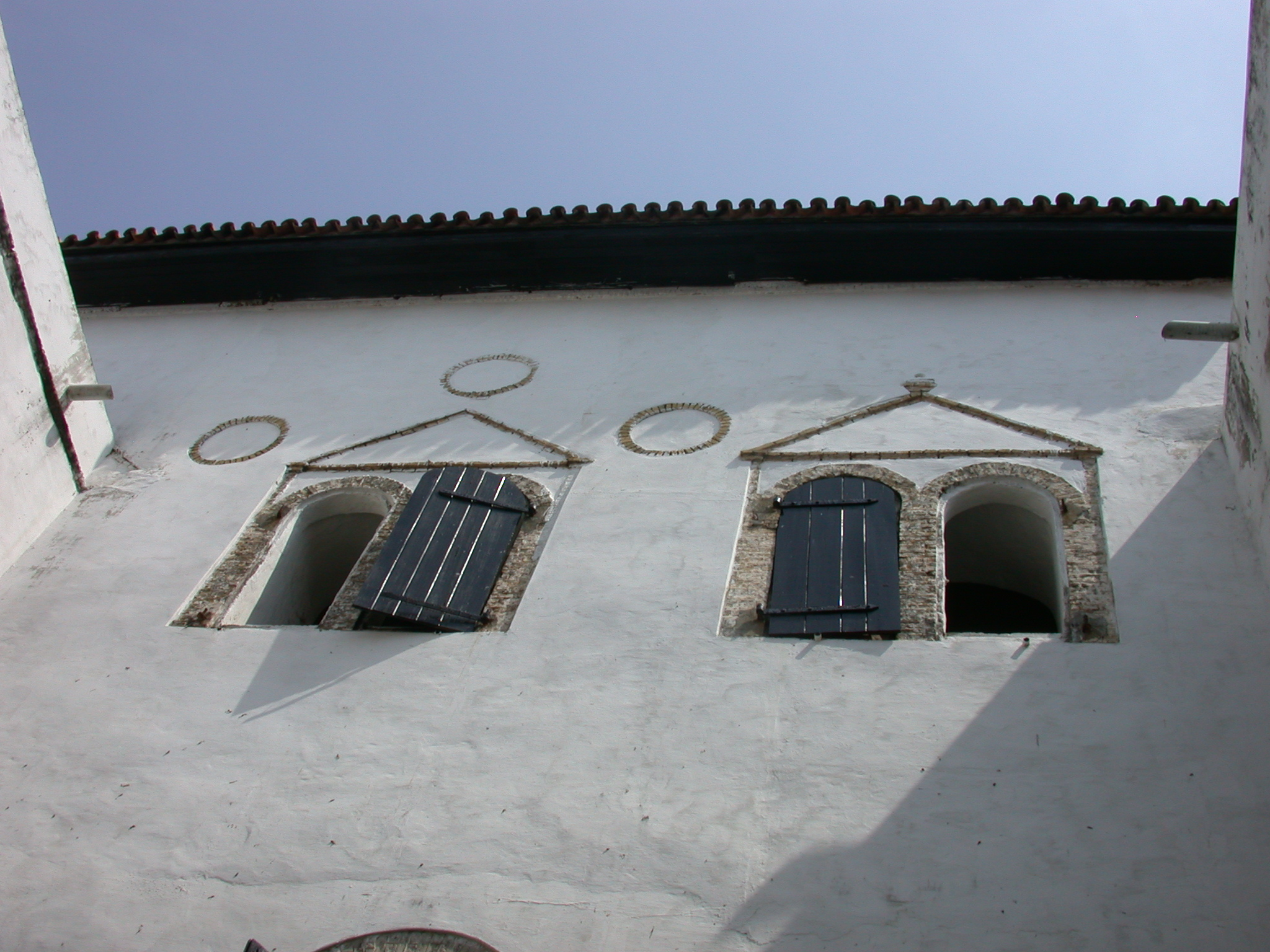 Courtyard Windows, Elmina Slave Fort, Elmina, Ghana