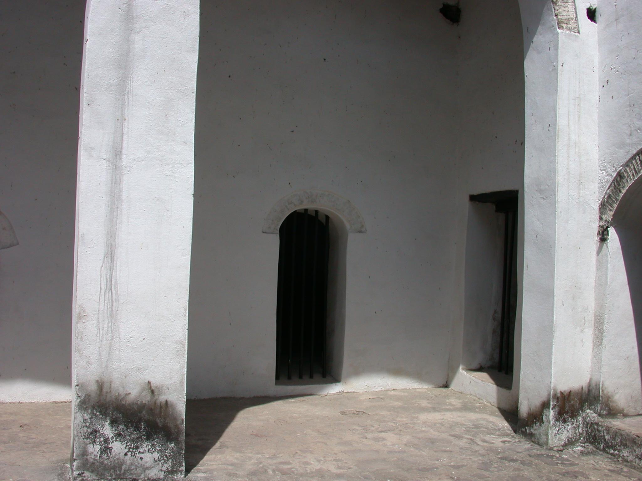 Barred Doors Visible From Courtyard, Elmina Slave Fort, Elmina, Ghana